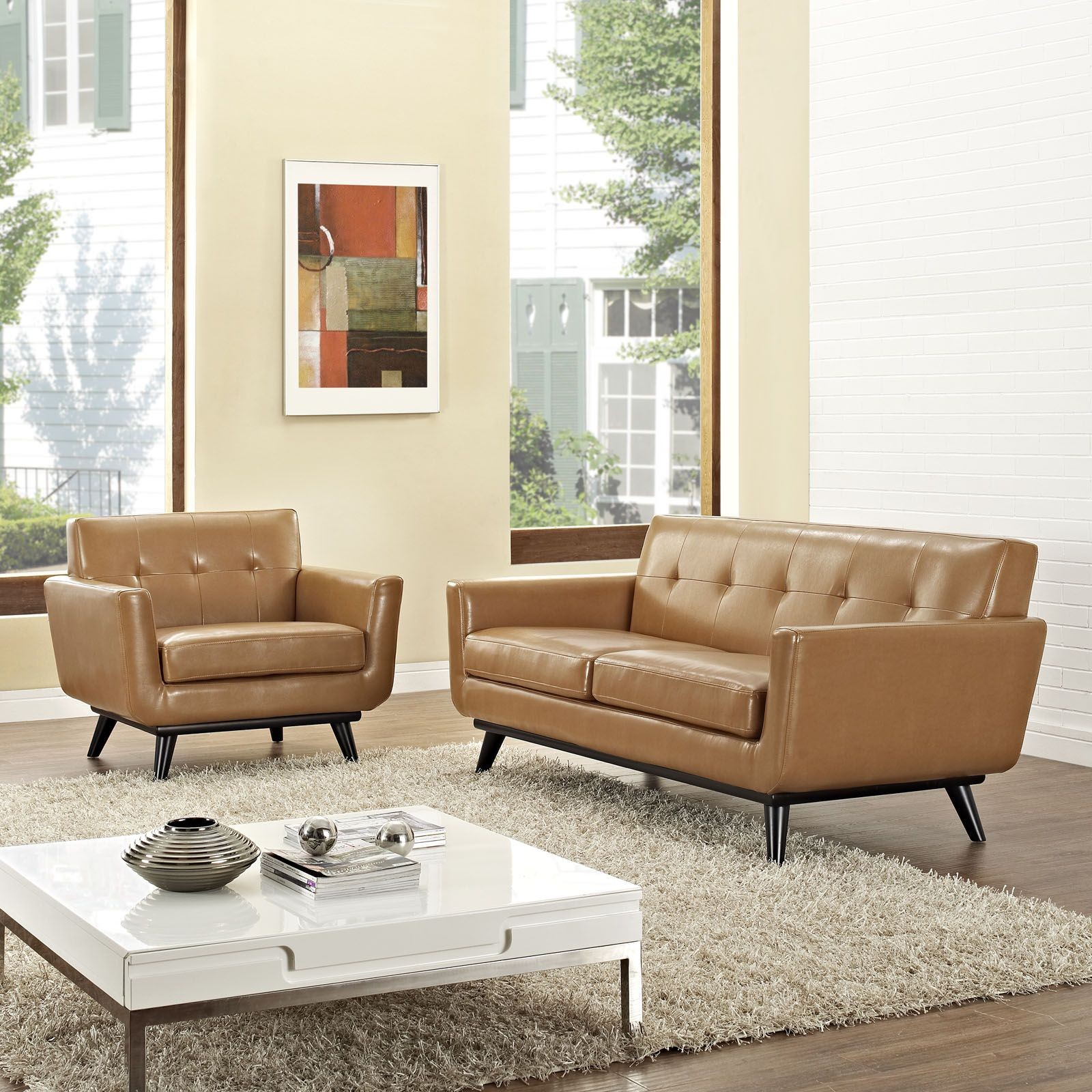 Engage tan 2 piece leather living room set from renegade coleman furniture 2 piece leather living room set