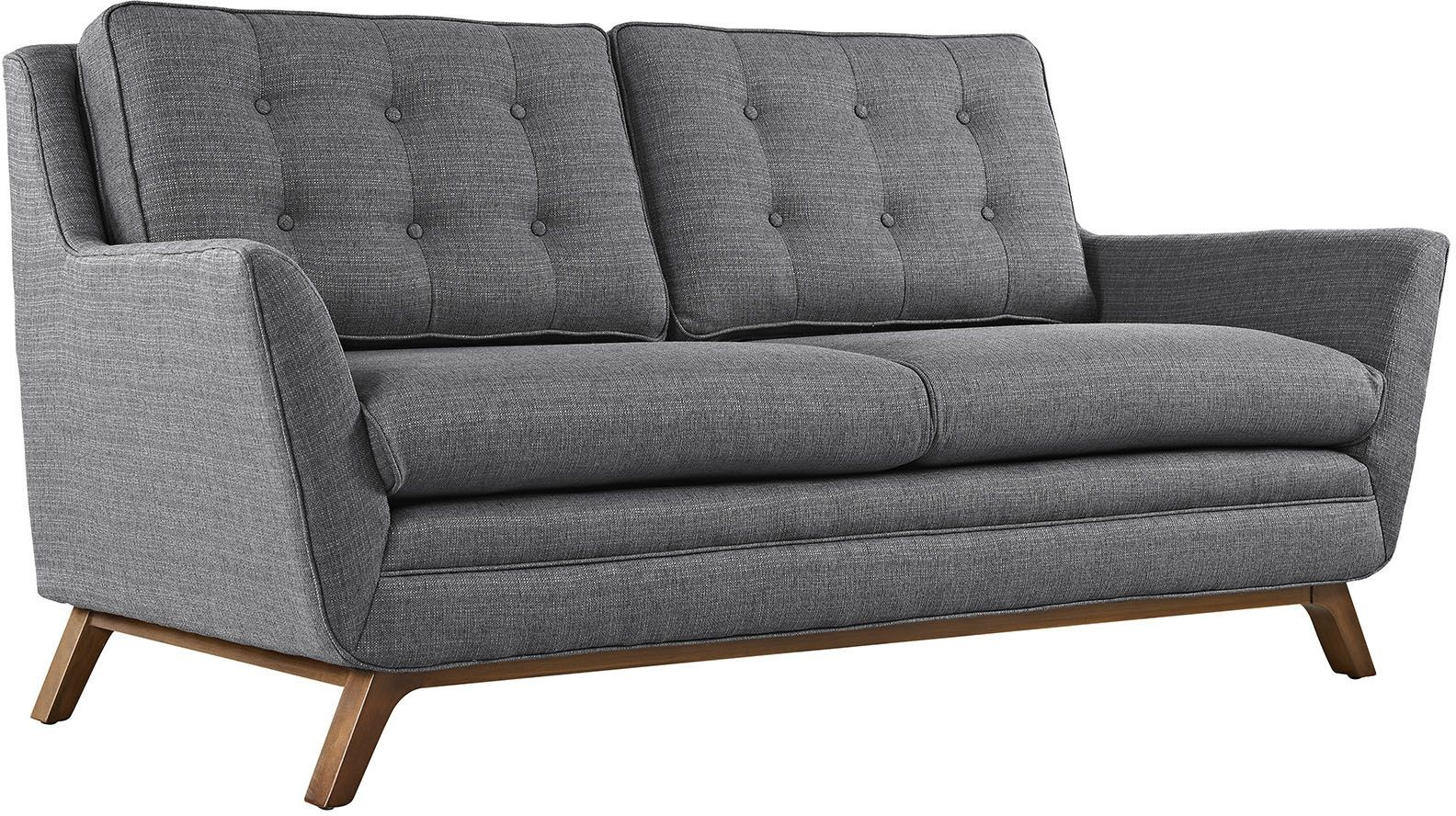 Beguile Gray Upholstered Loveseat From Renegade Coleman Furniture