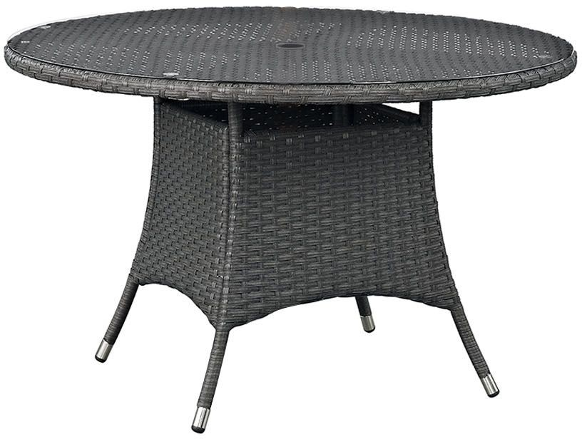 Sojourn Chocolate 47 Round Outdoor Patio Dining Table From Renegade C