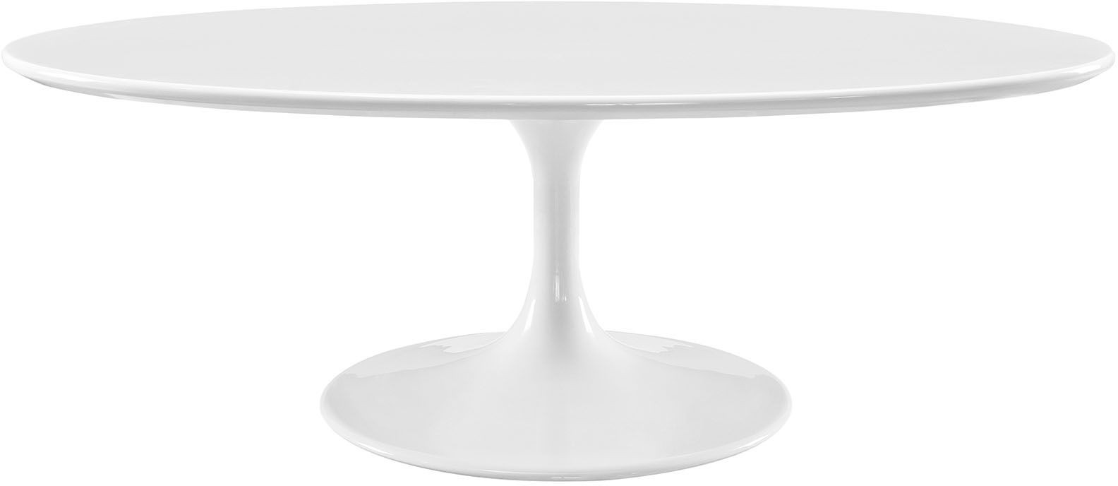 Lippa white 48 oval shaped wood top coffee table from renegade coleman furniture Oval shaped coffee table