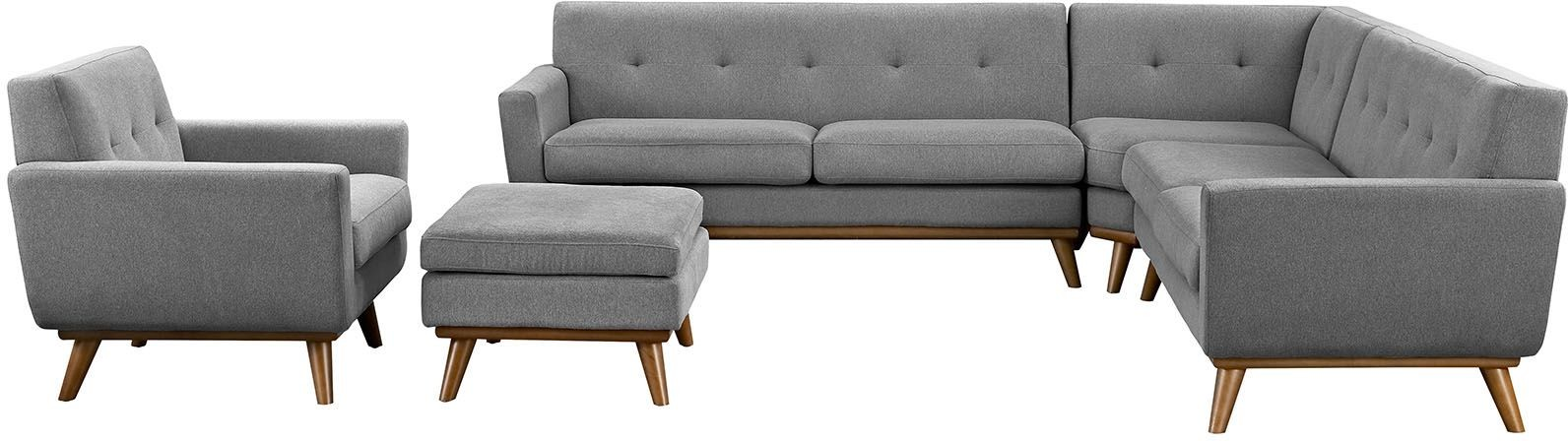 Engage gray 5 piece sectional sofa from renegade coleman for 5 piece grey sectional sofa
