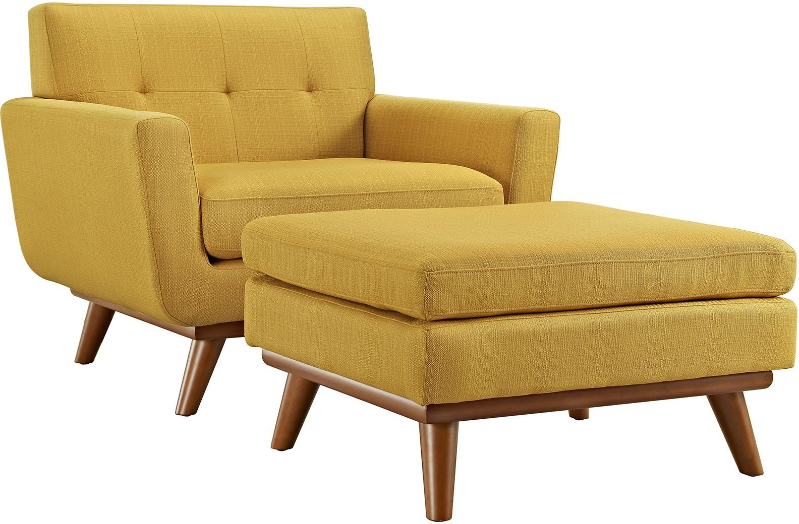 Engage citrus 2 piece armchair with ottoman from renegade for Armchair with ottoman