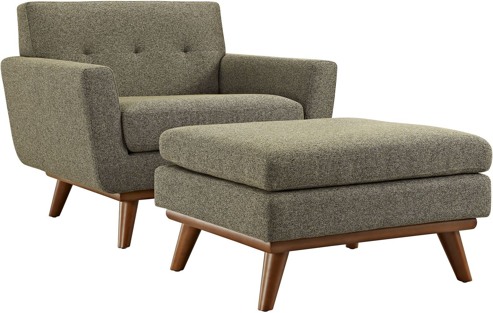 Engage oatmeal 2 piece armchair with ottoman from renegade for Armchair with ottoman