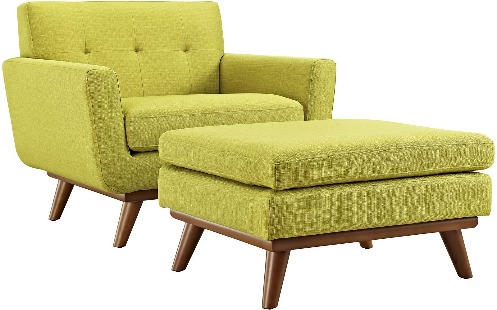 Engage wheatgrass 2 piece armchair with ottoman from for Armchair with ottoman
