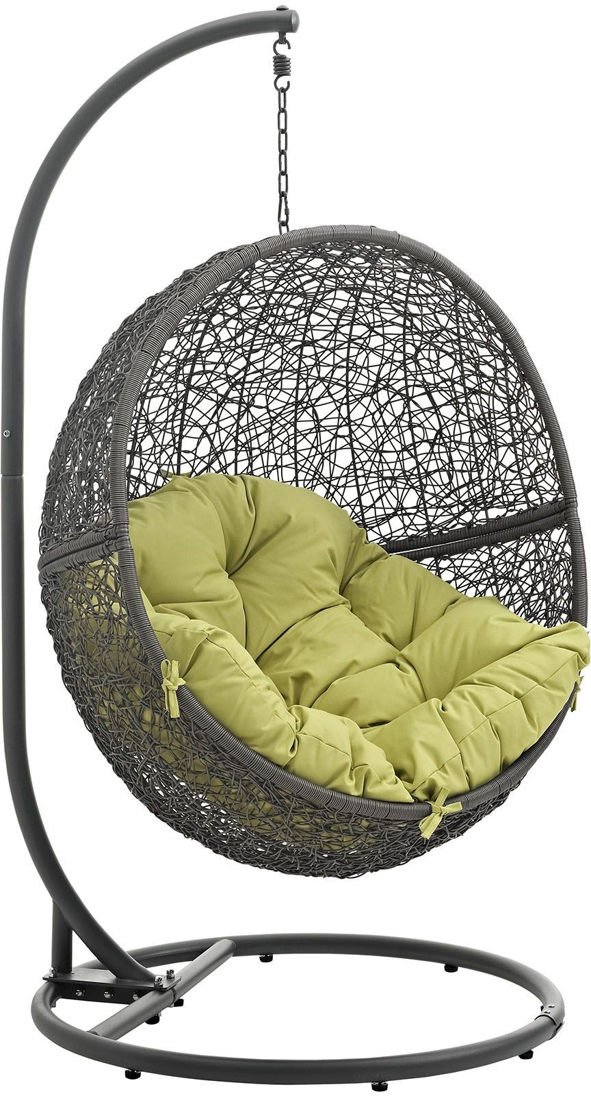 Hide Gray Peridot Outdoor Patio Swing Chair With Stand from Renegade : Coleman Furniture