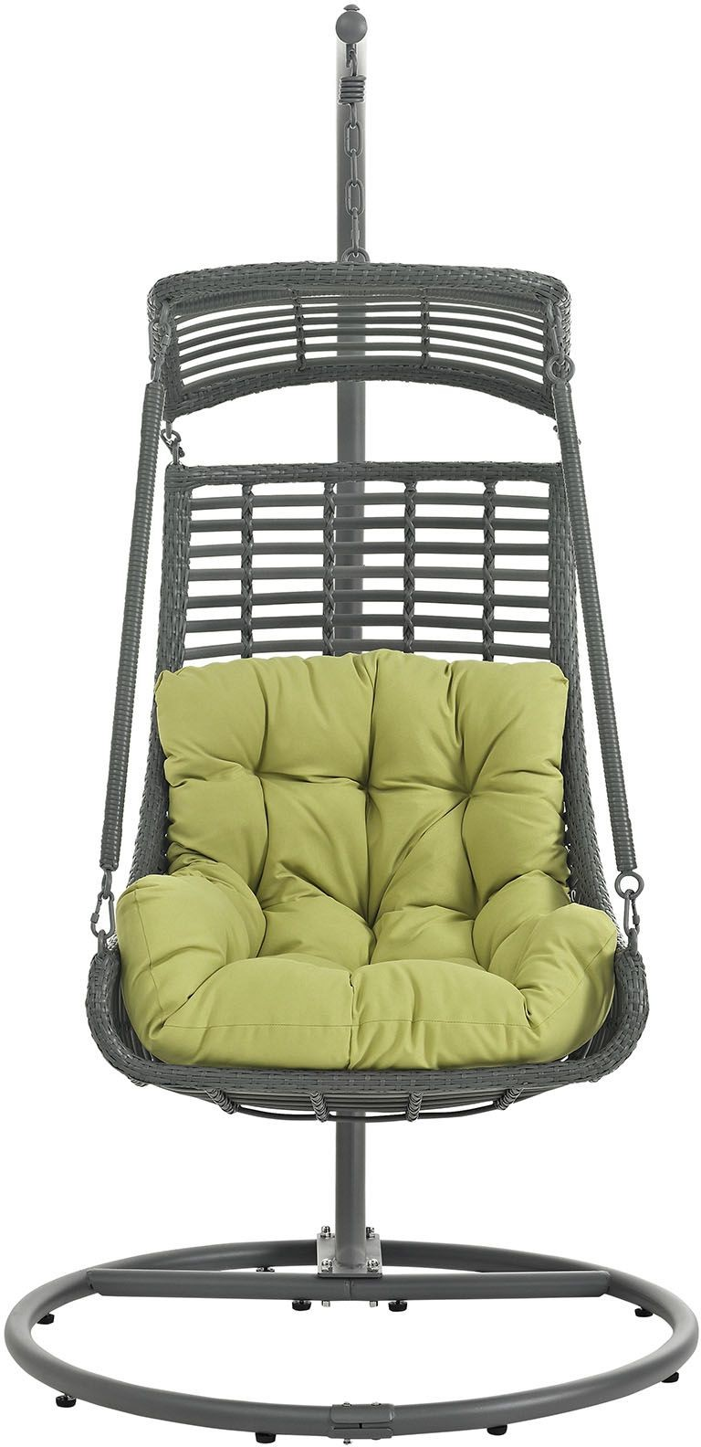 jungle peridot outdoor patio swing chair with stand eei 2274 per set renegade furniture. Black Bedroom Furniture Sets. Home Design Ideas