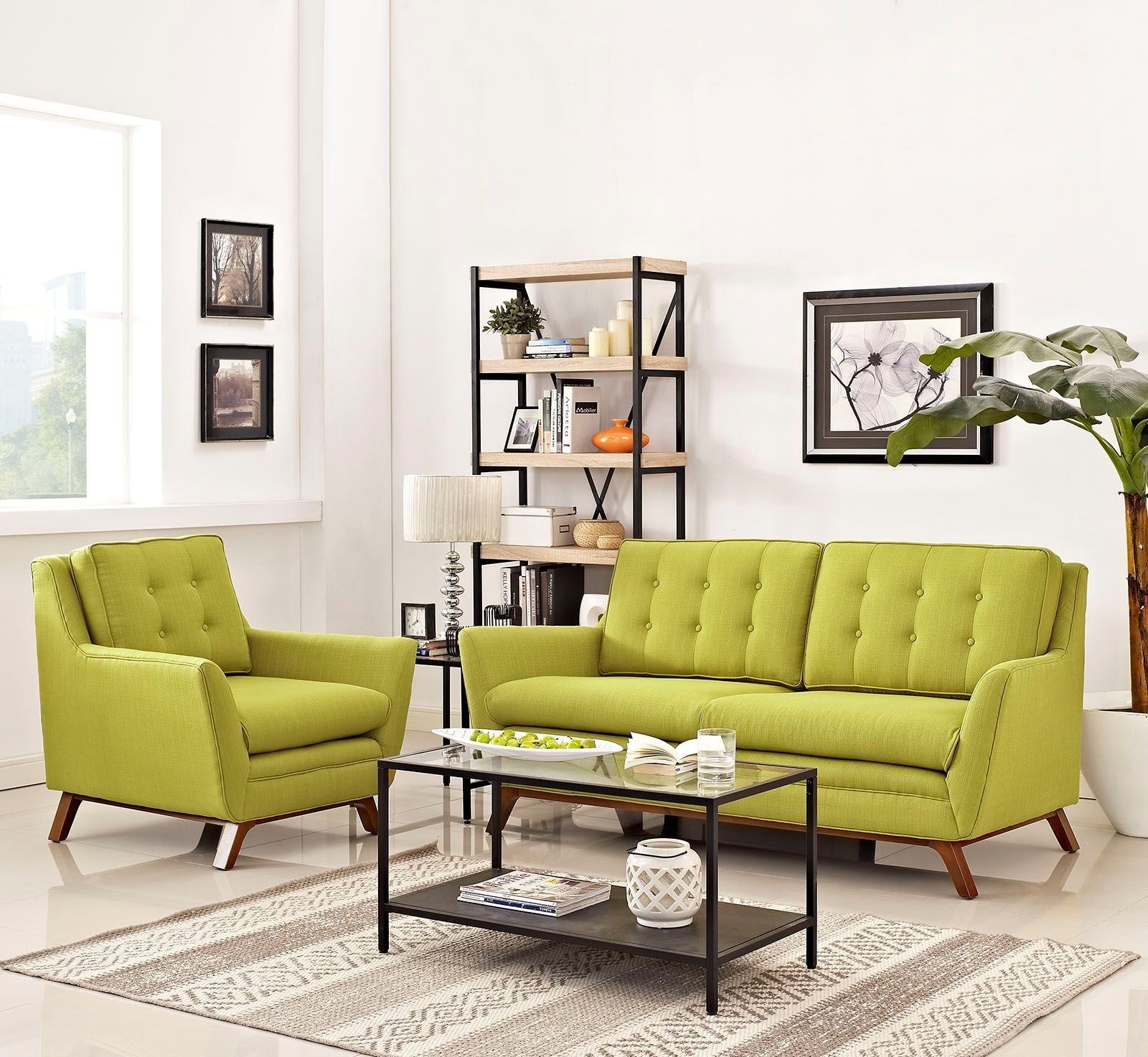 Eei 2432 Whe Set Beguile Wheatgrass 2 Piece Upholstered Living Room Set From Renegade Coleman