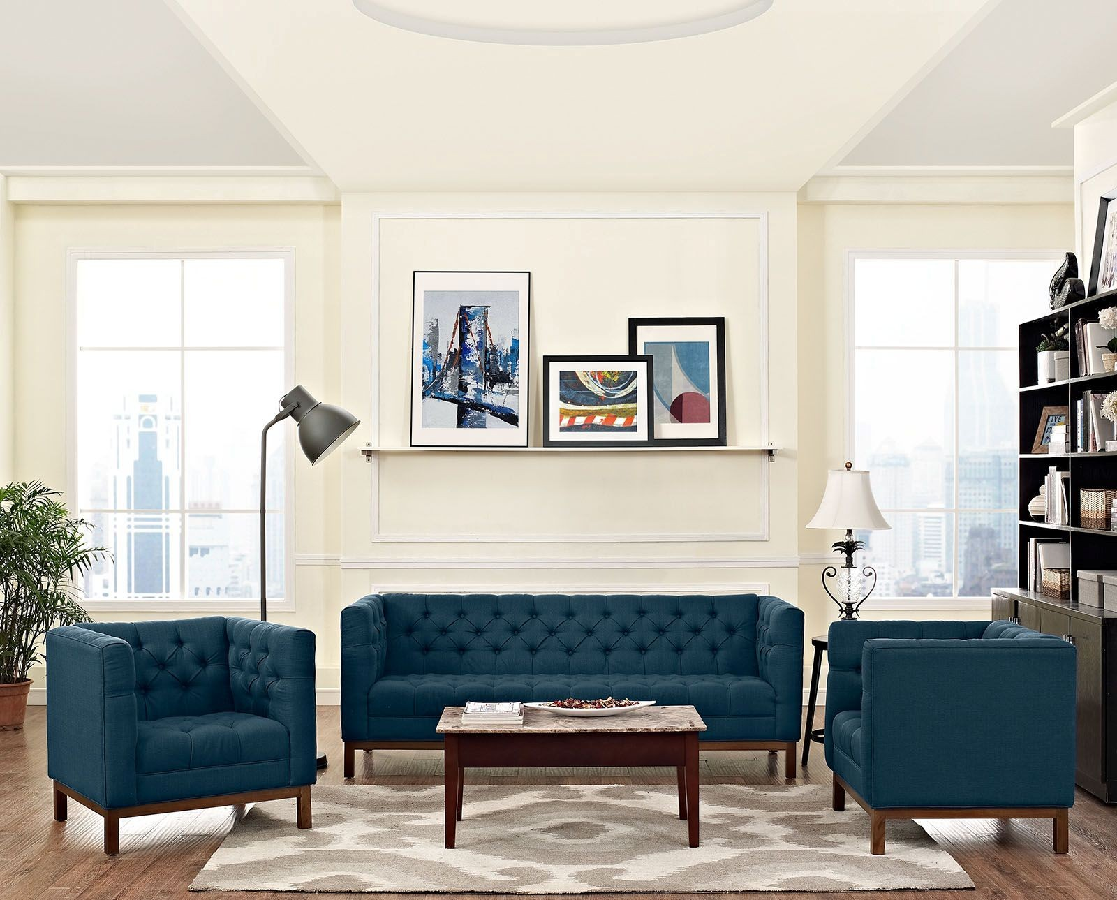 Panache Azure 3 Piece Upholstered Living Room Set From Renegade Coleman Furniture