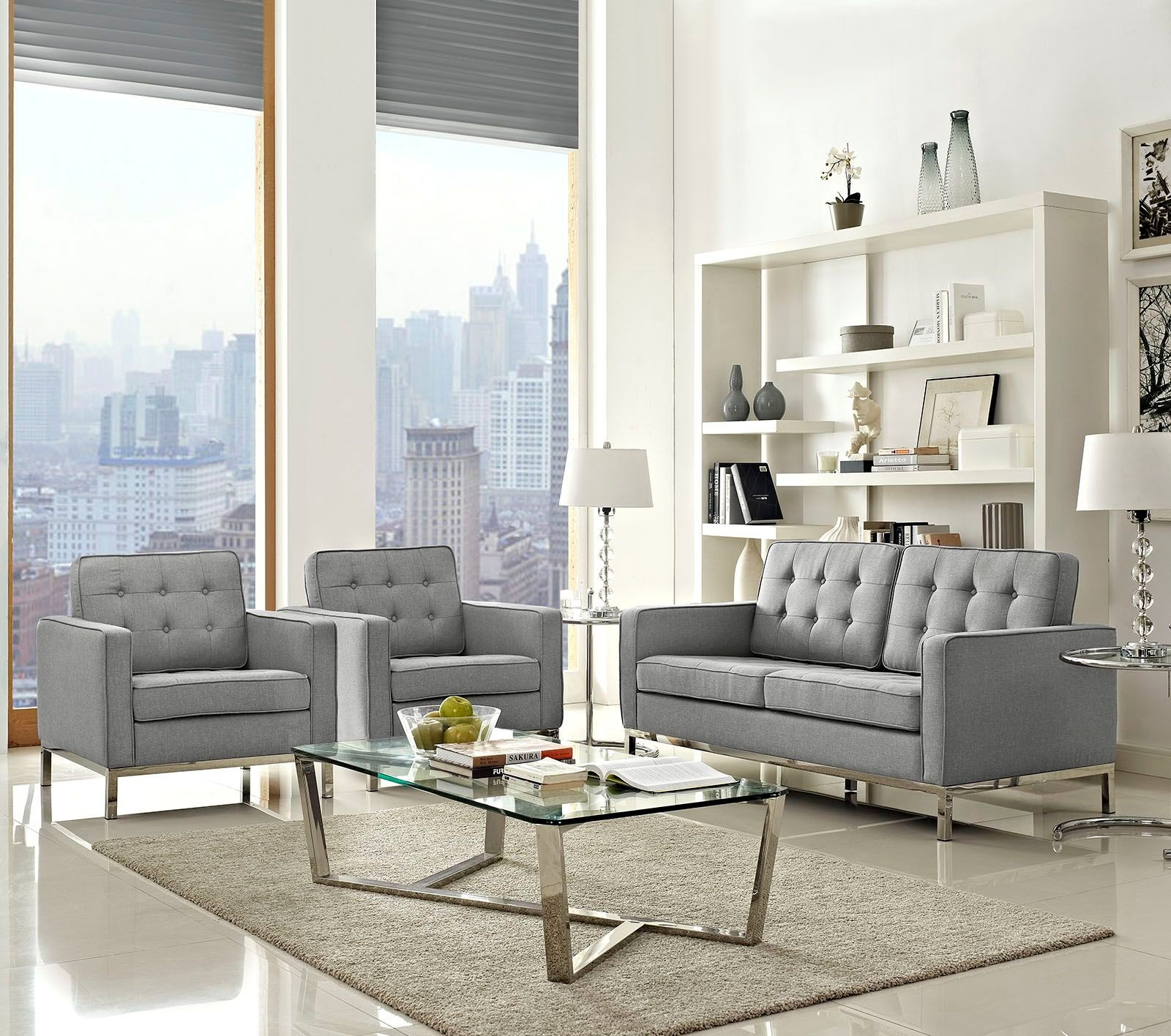 Loft Light Gray 3 Piece Upholstered Living Room Set From Renegade Coleman Furniture