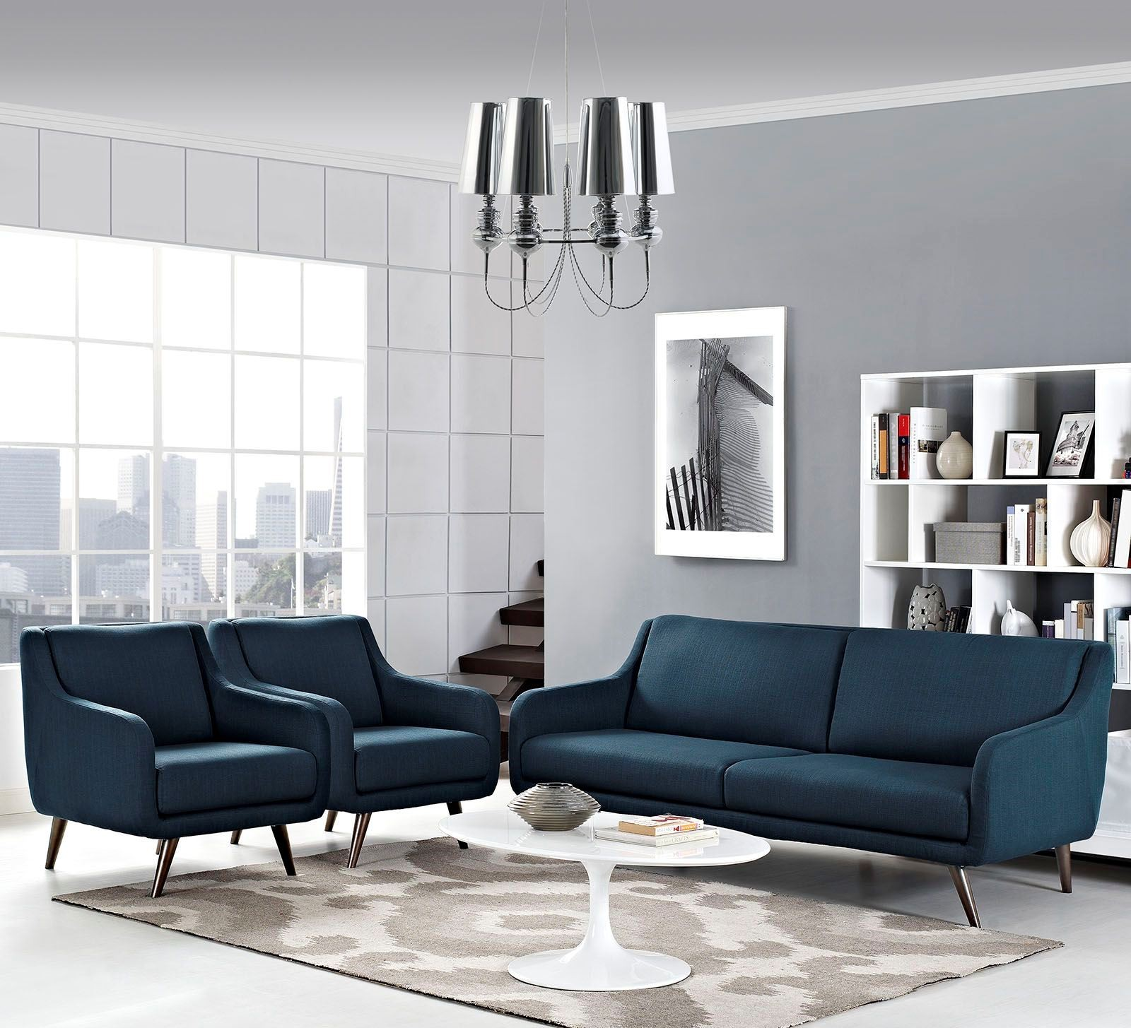 Verve azure 3 piece living room set from renegade for 6 piece living room set