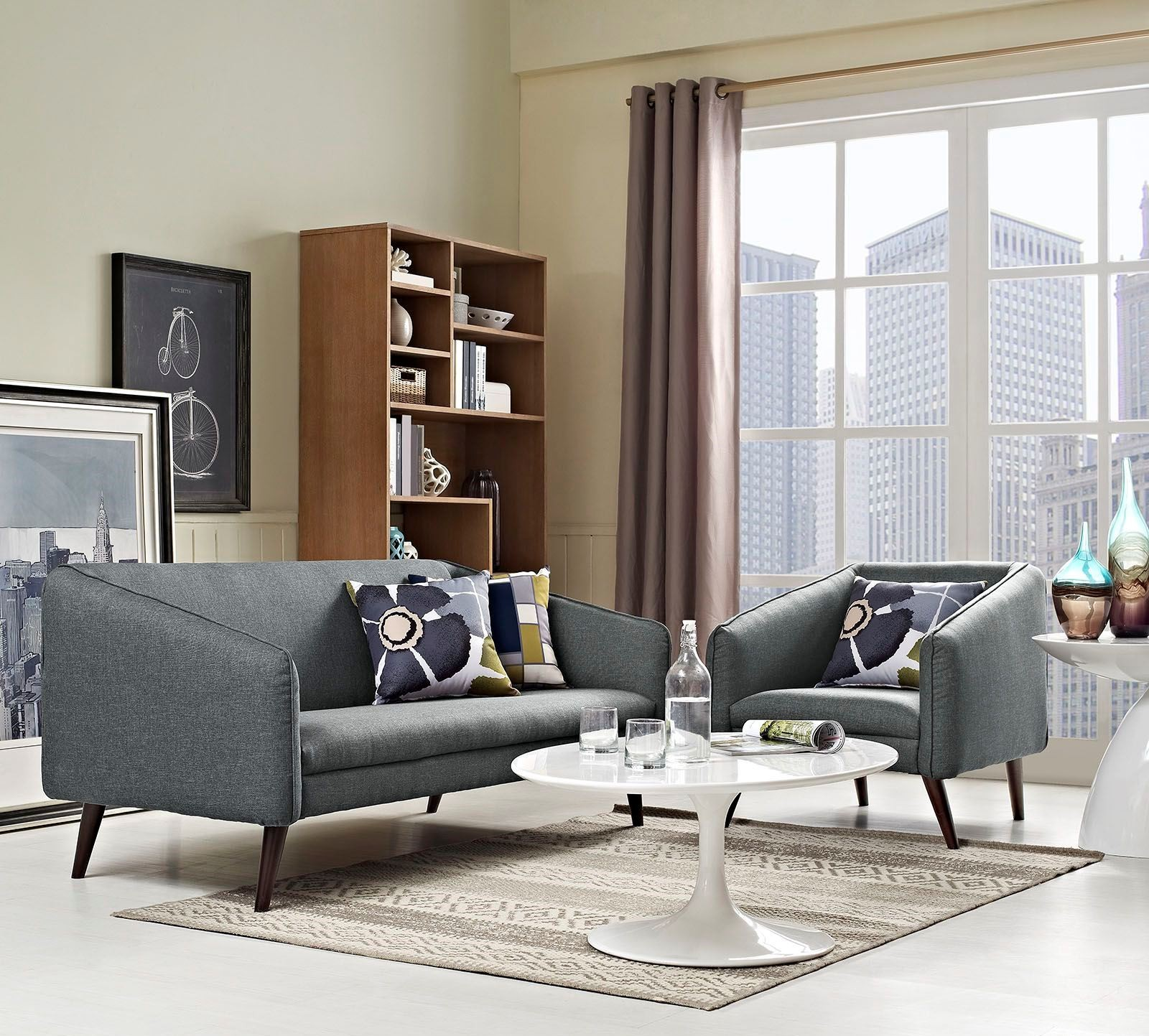 Slide gray 2 piece living room set from renegade coleman for 2 piece living room set