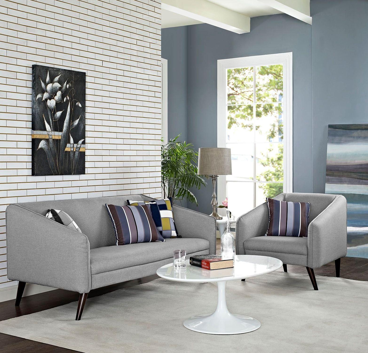Slide light gray 2 piece living room set from renegade for 2 piece living room set