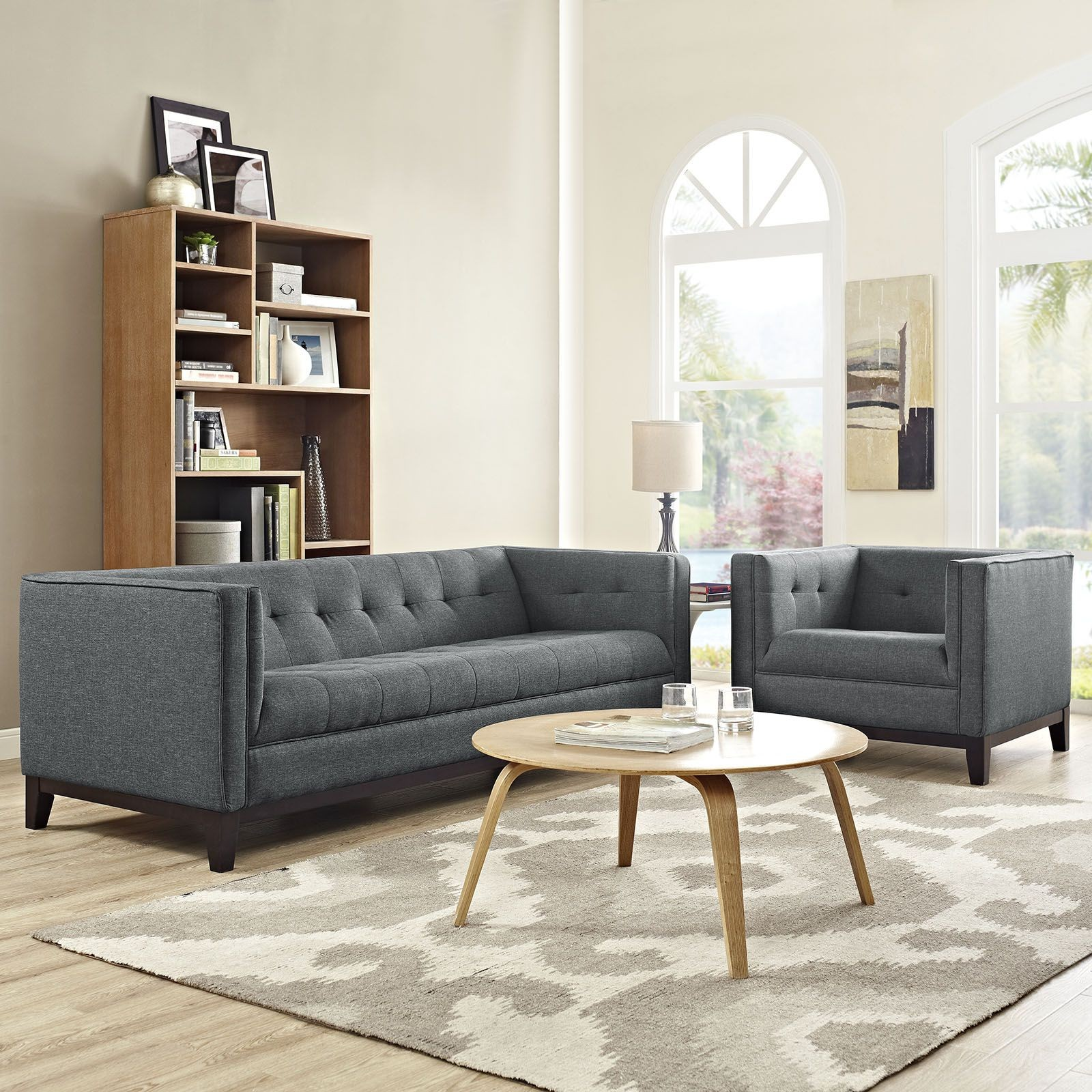 Serve gray 2 piece living room set from renegade coleman for 6 piece living room furniture sets
