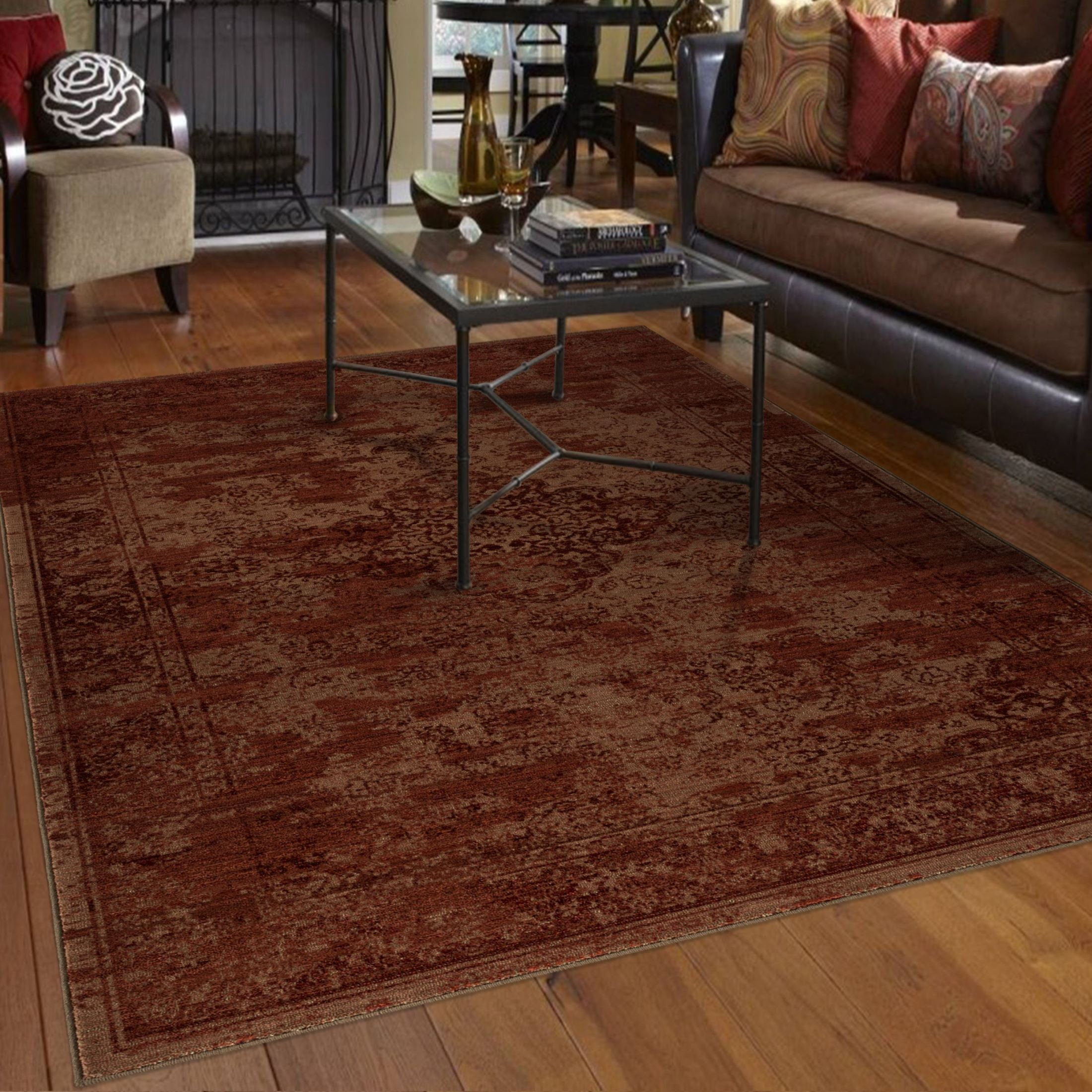 Faded Morocco Red Medium Rug From Orian 3511 5x8