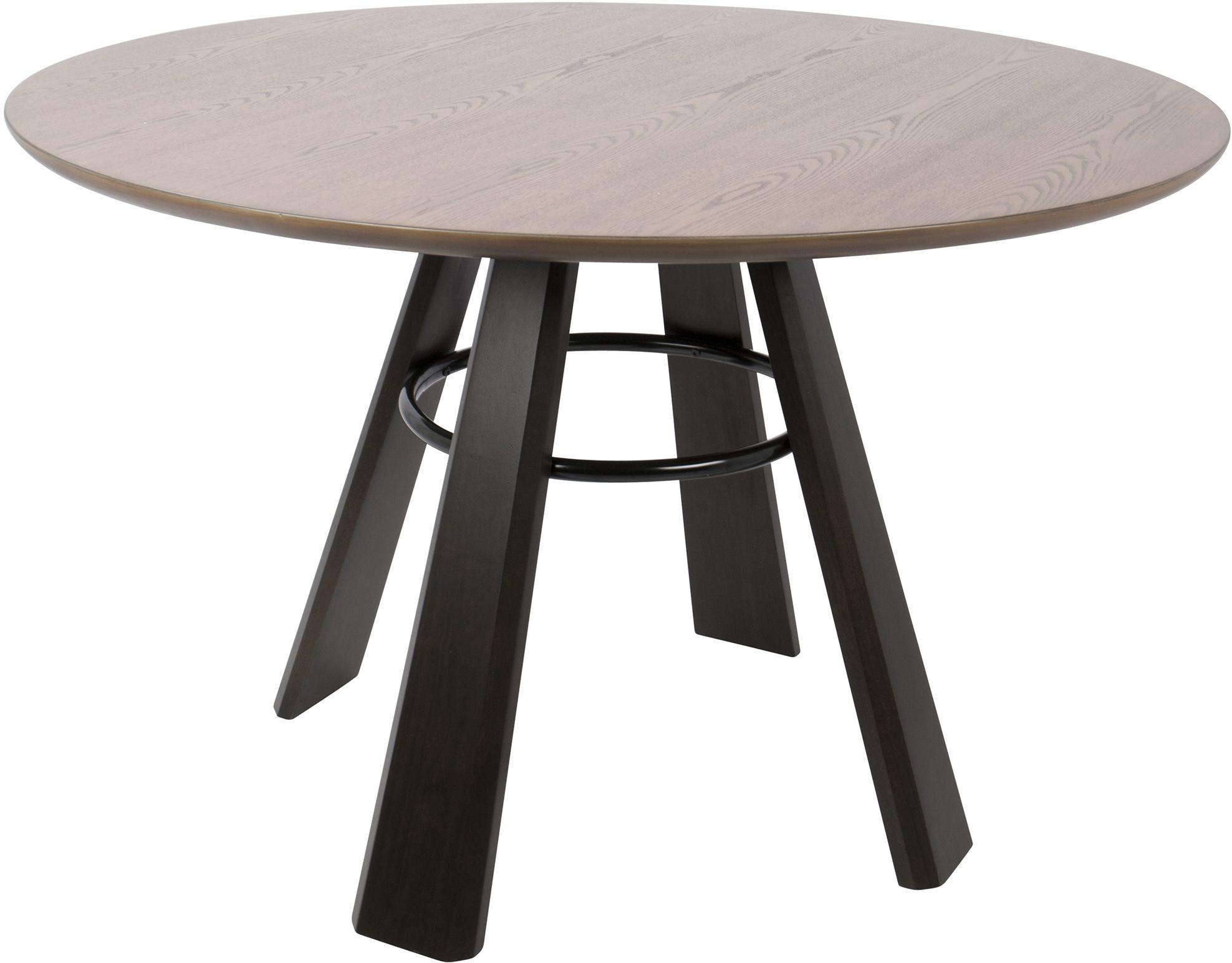 Elton walnut wood and espresso dining table from for Espresso dining table