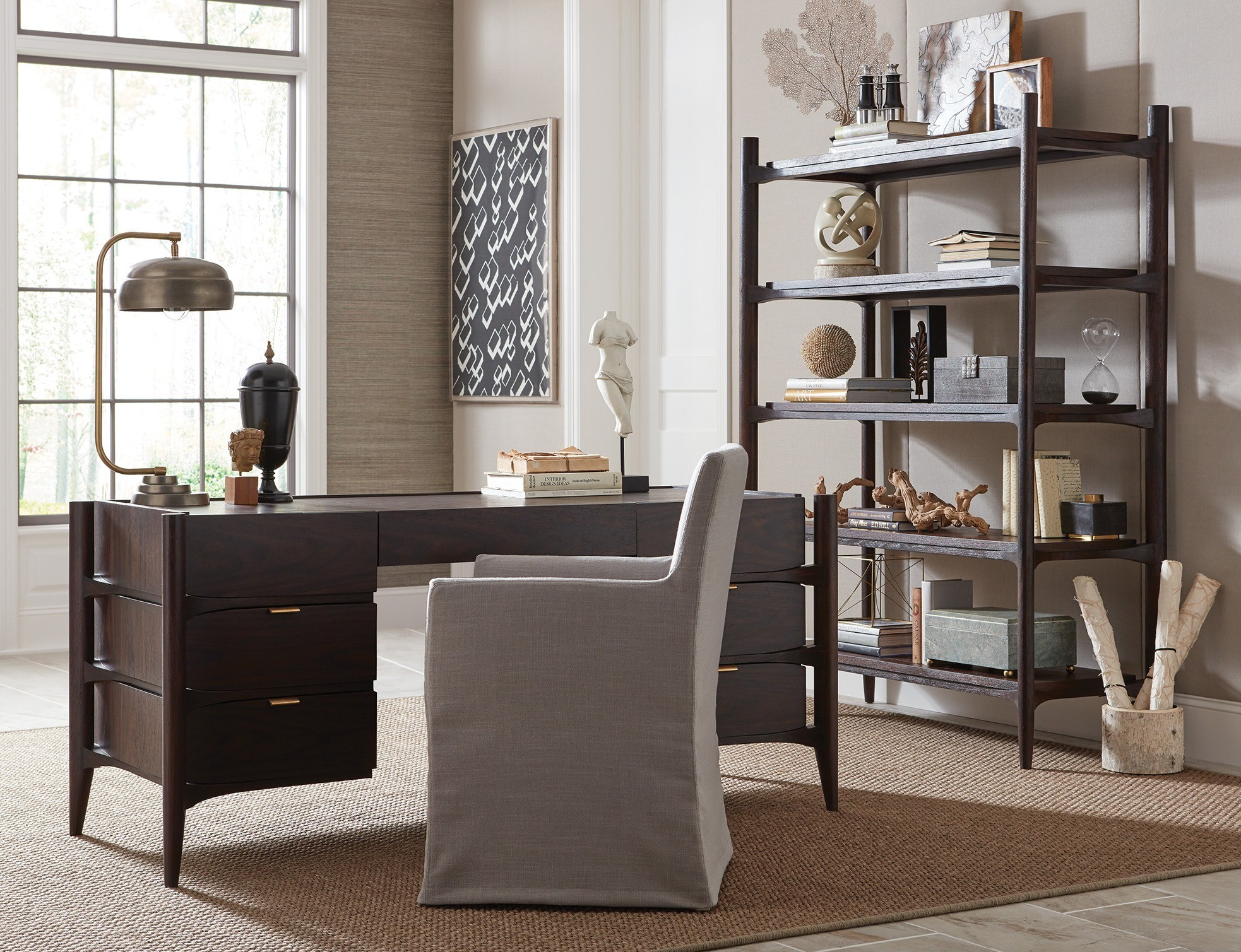 Emerson Rosewood Home Office Set From Brownstone Coleman