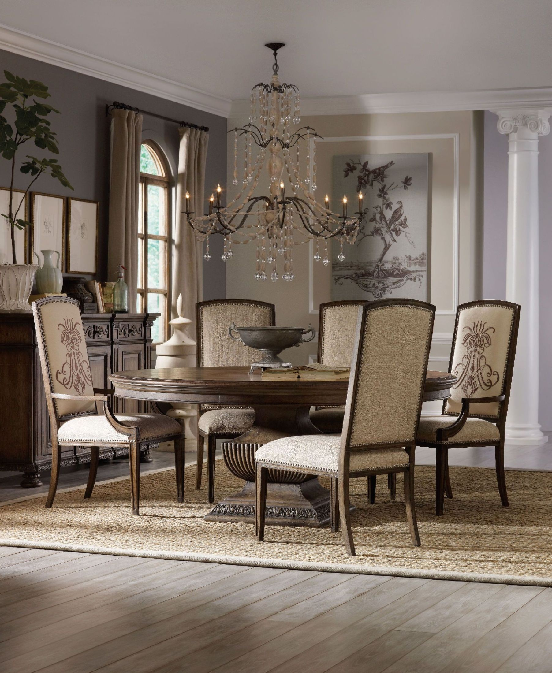 "Round Dining Room Sets For 6: Rhapsody Brown 60"" Round Dining Room Set From Hooker"