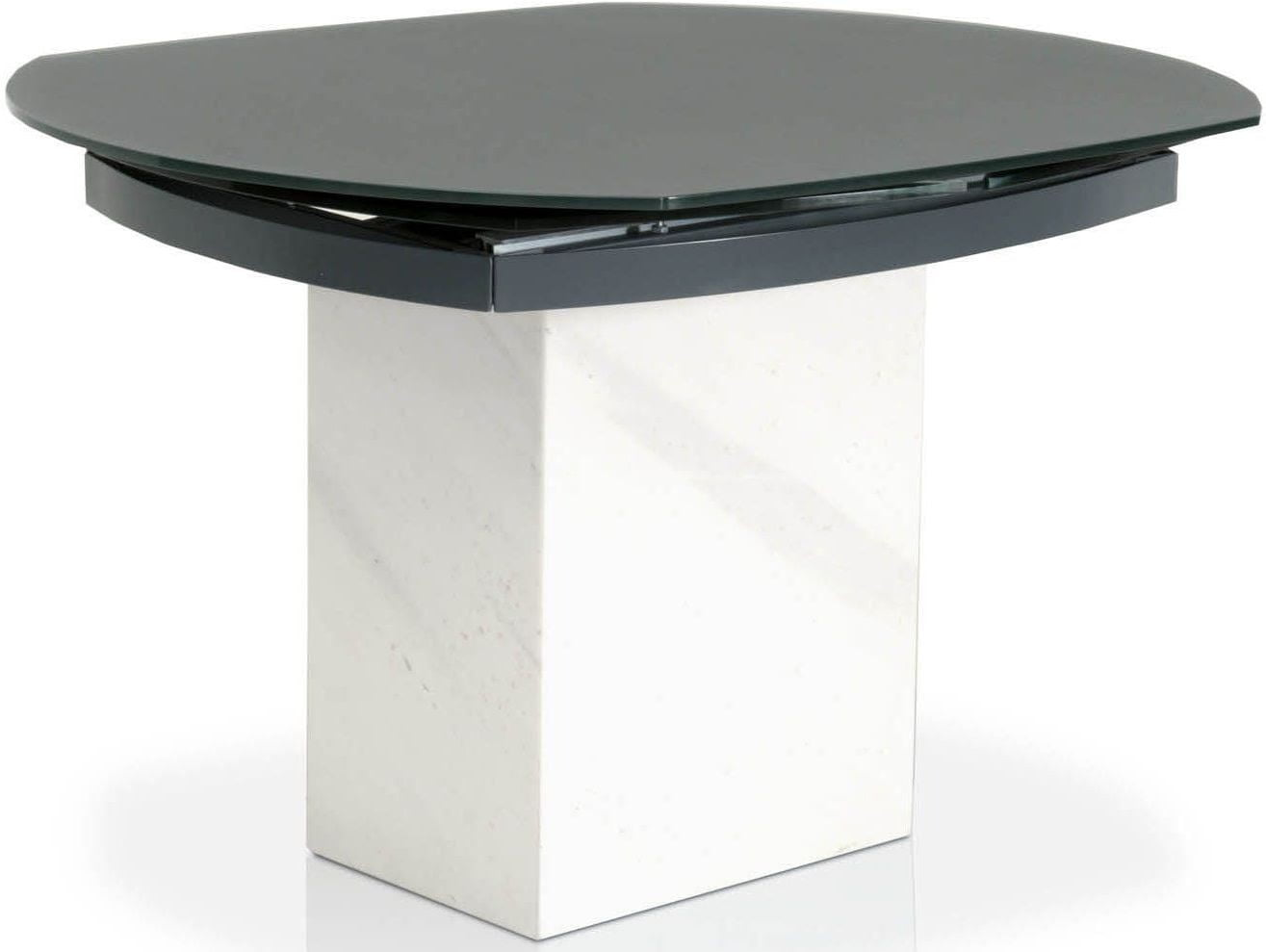 Era Matte Grey Top Extendable Dining Table From Star International - Marble top extendable dining table