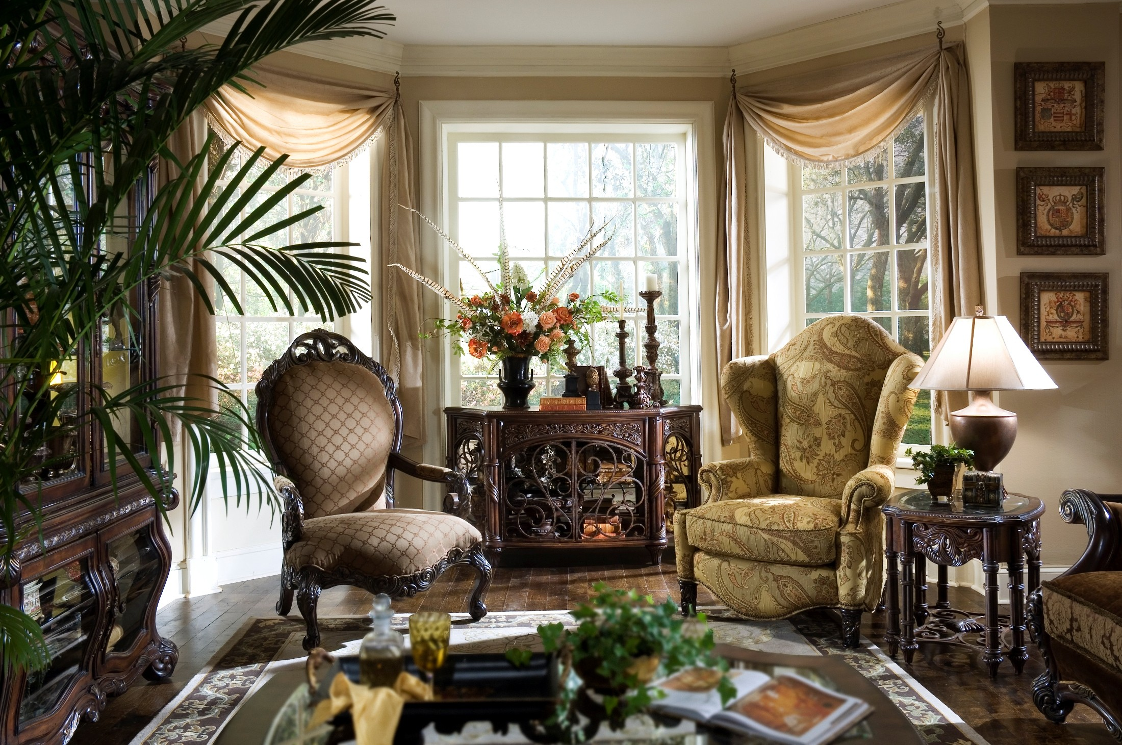 essex manor living room set from aico 76815 coleman furniture. Black Bedroom Furniture Sets. Home Design Ideas