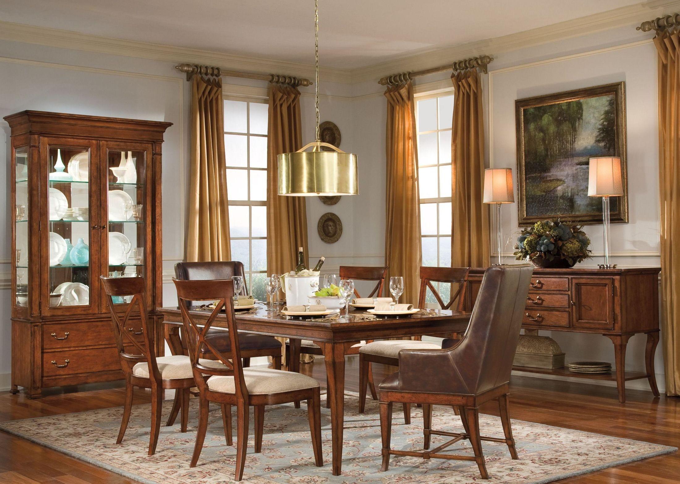 European Legacy Distressed Macadamia Extendable Leg Dining Room ...