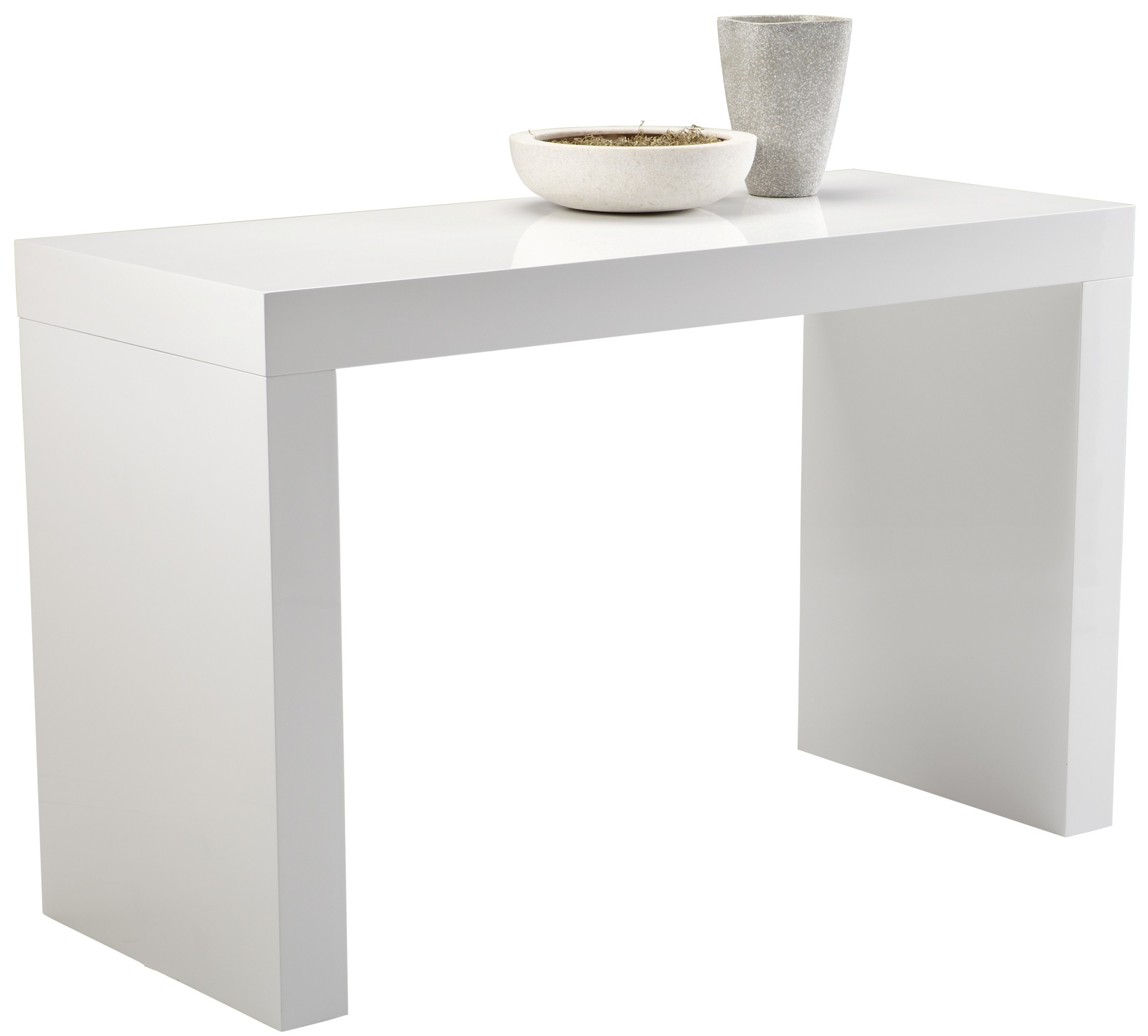 Faro White High Gloss C Shape Bar Table From Sunpan 50257