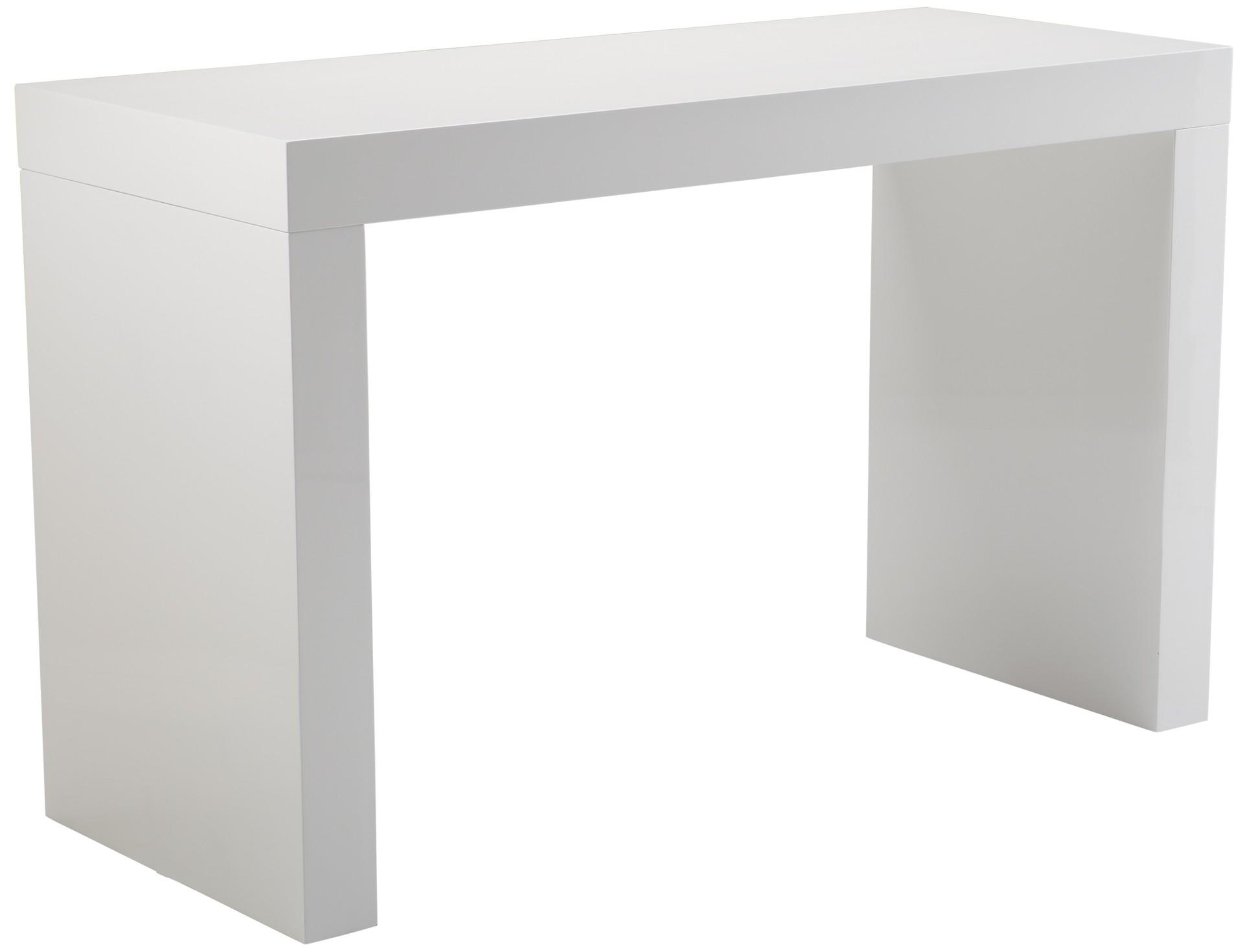 Faro White High Gloss C Shape Bar Table From Sunpan 50257