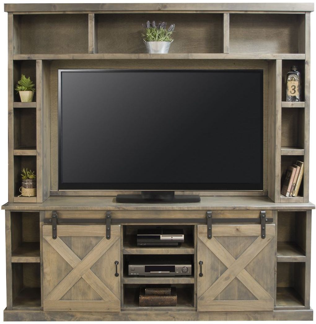 Farmhouse Brushed Nickel Entertainment Center from Legends
