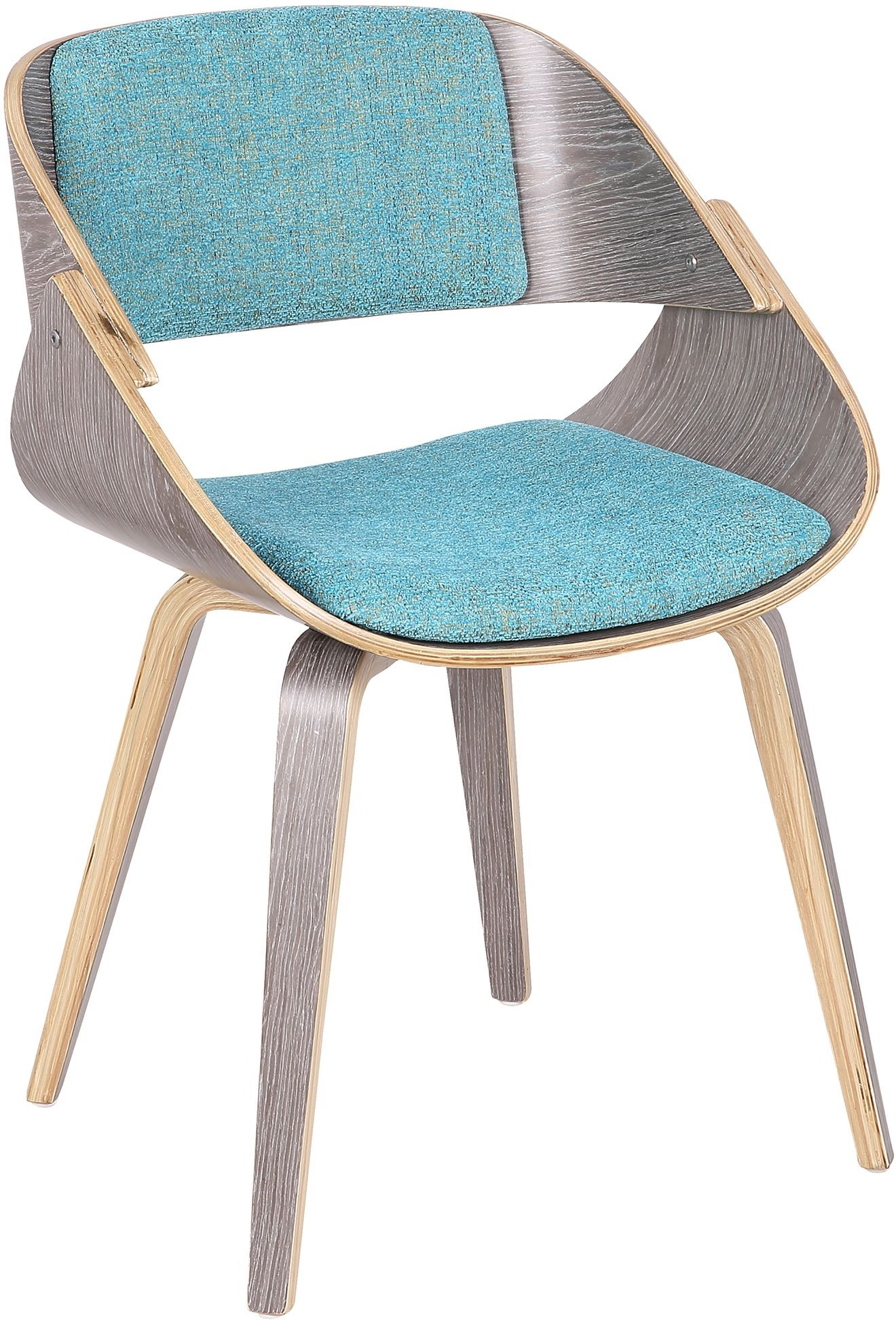 Fabrico Light Gray And Aqua Accent Chair From Lumisource