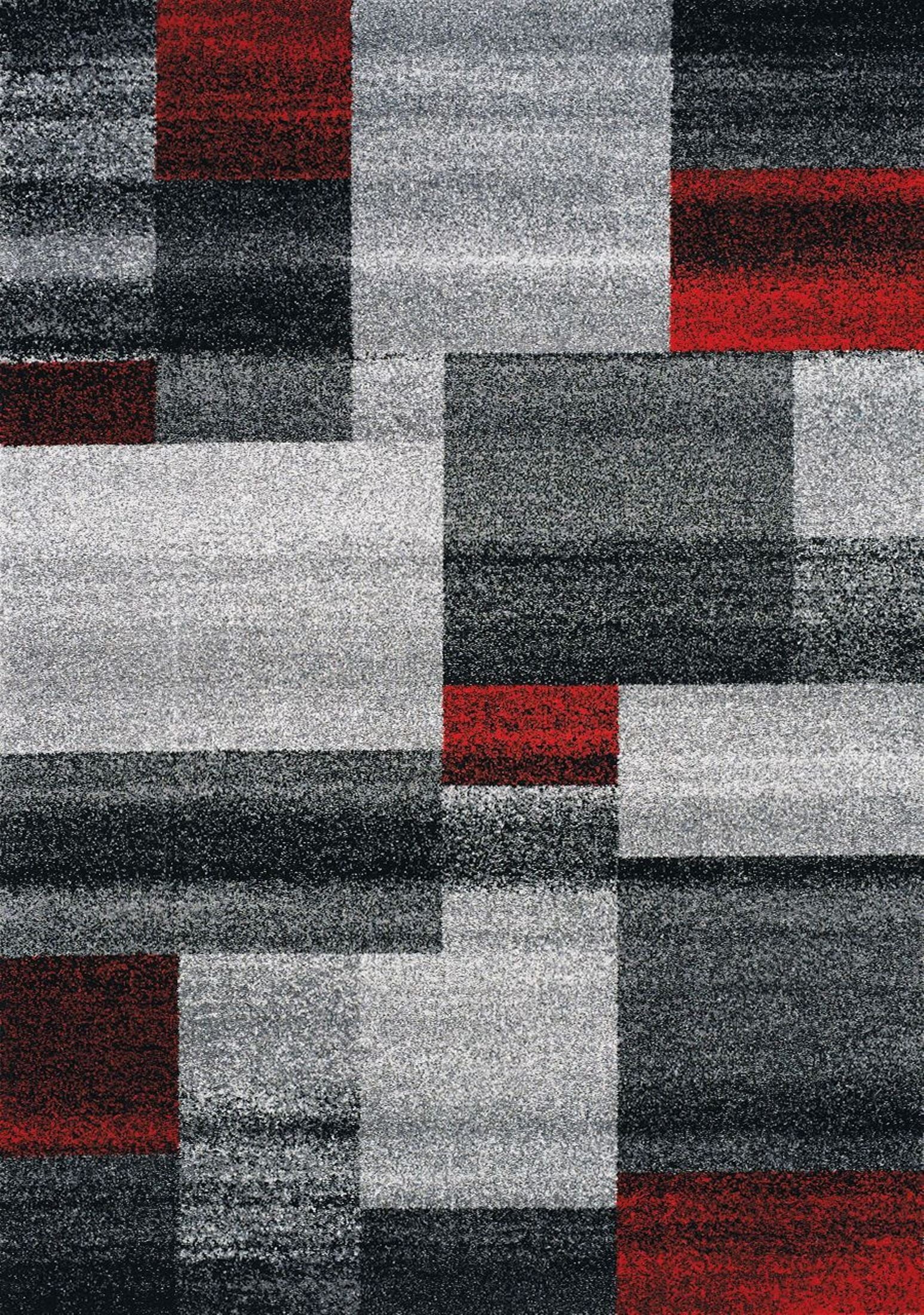 freemont grey and red blocks small rug from kalora coleman furniture. Black Bedroom Furniture Sets. Home Design Ideas
