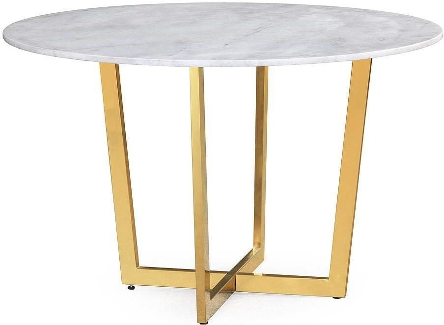 Maxim white marble dining table from tov coleman furniture - Marble dining table prices ...