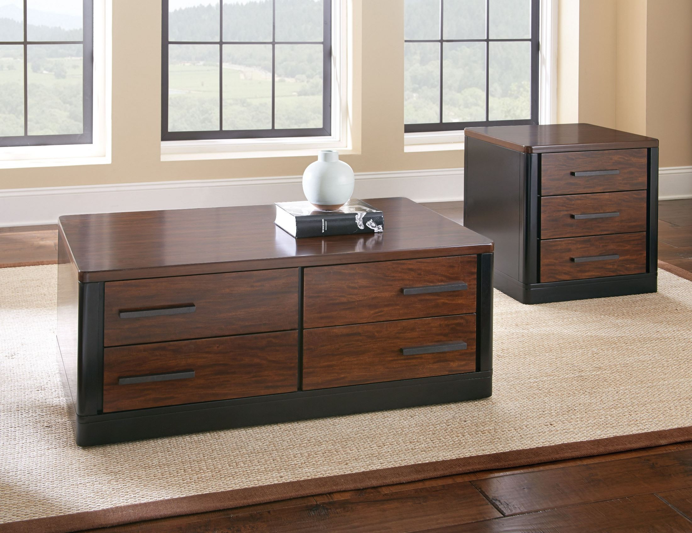 Gale 4 drawer occasional table set from steve silver for Occasional table with drawers