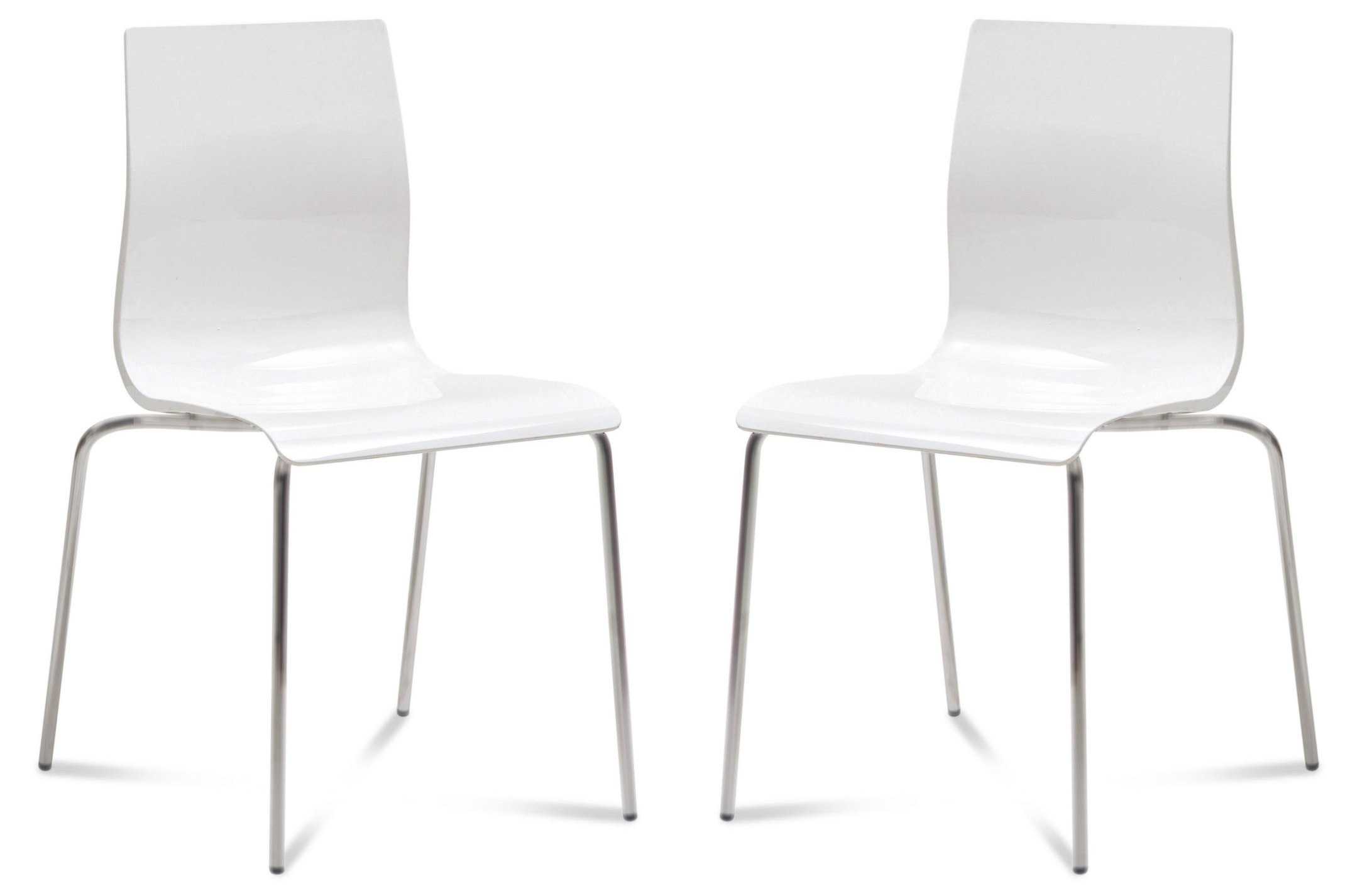 Gel White Chair With Satinated Aluminum Stacking Chair Set Of 2 From  Domitalia | Coleman Furniture