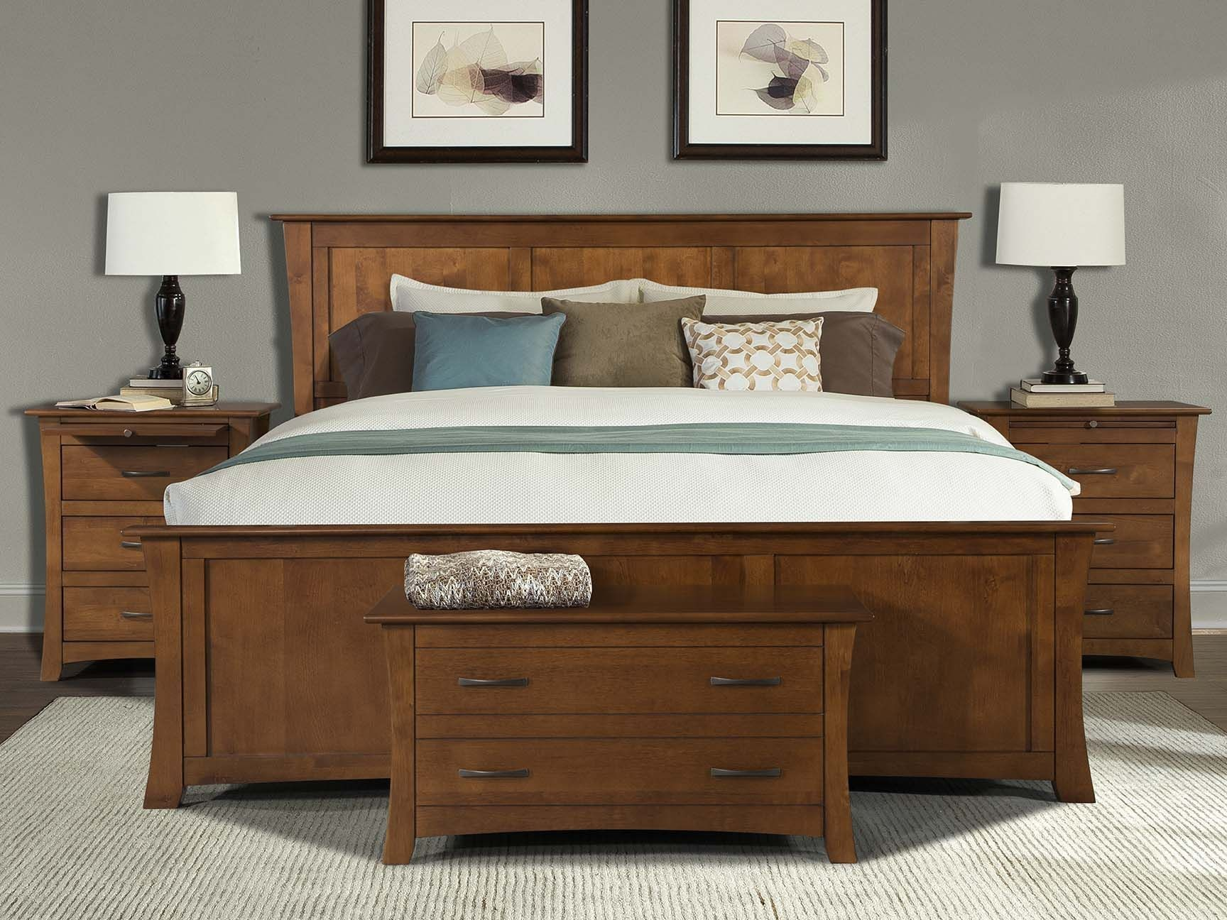 grant park pecan panel bedroom set from a america coleman furniture