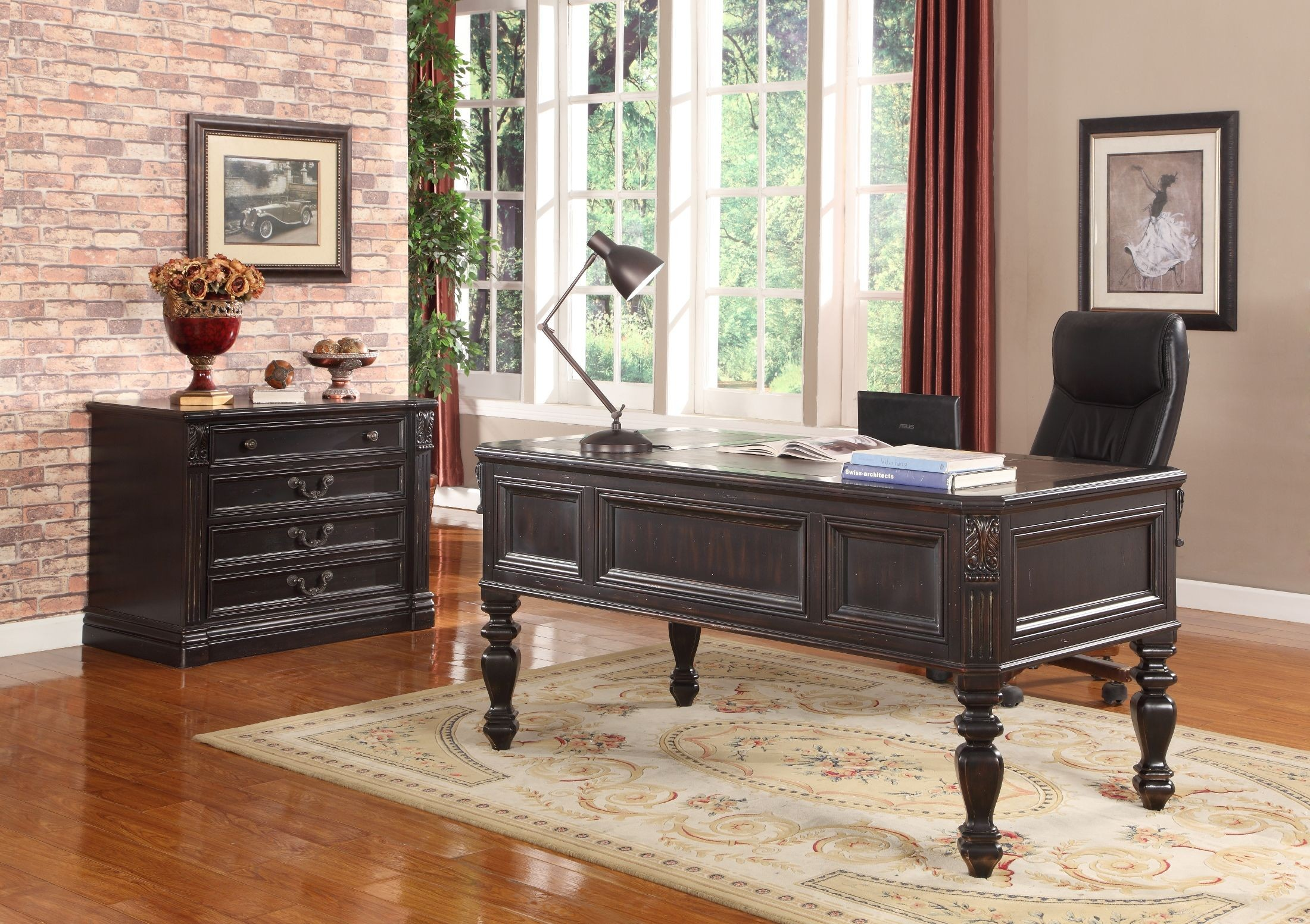 Grand Manor Palazzo Writing Desk From Renegade Coleman Furniture