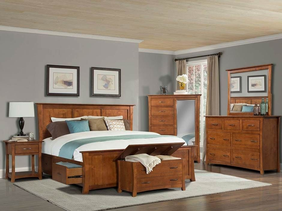 Grant Park Pecan Storage Bedroom Set From A America Coleman Furniture