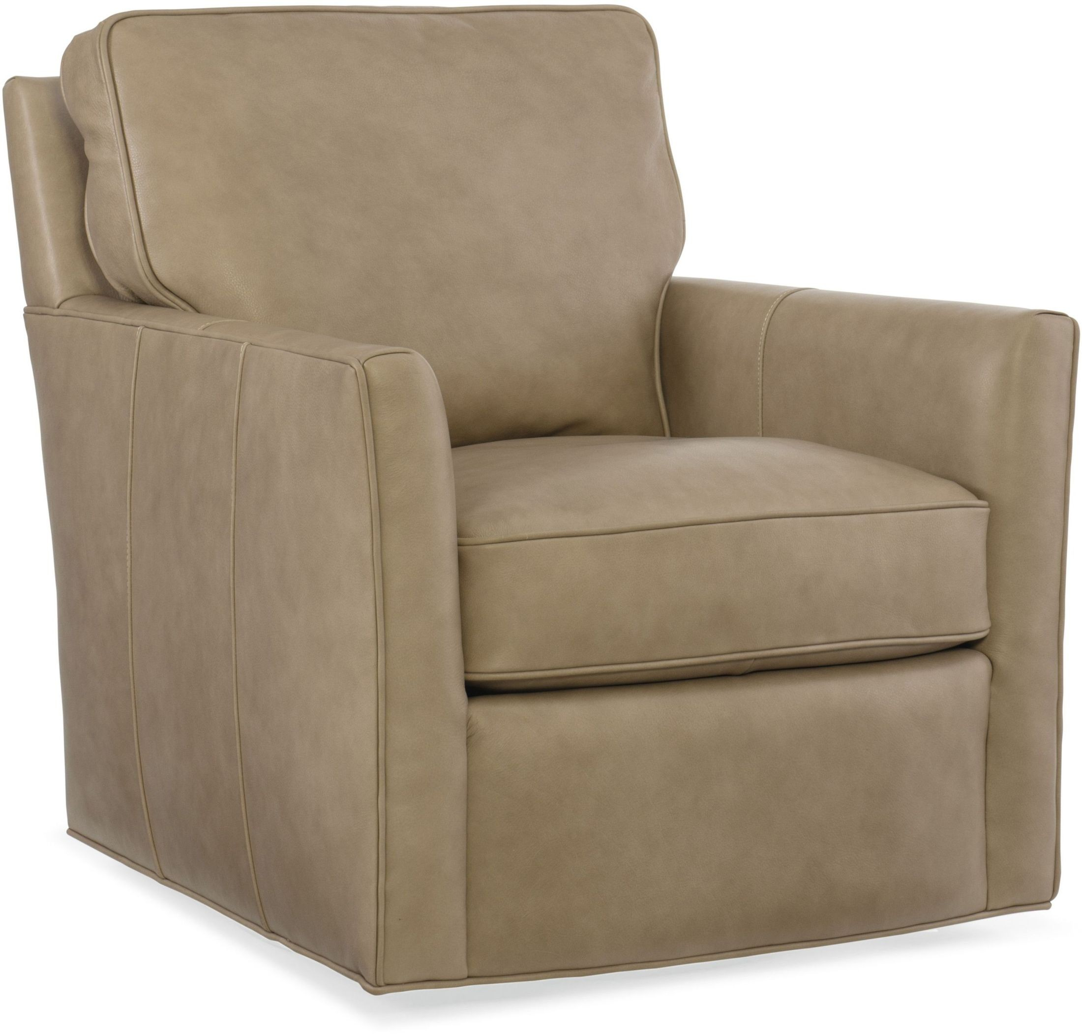 Mandy beige swivel leather club chair from hooker for Swivel club chair leather