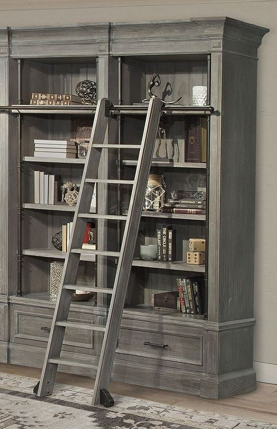 Gramercy Park Vintage Burnished Smoke 2 Piece Museum Bookcase From Parker House Coleman Furniture