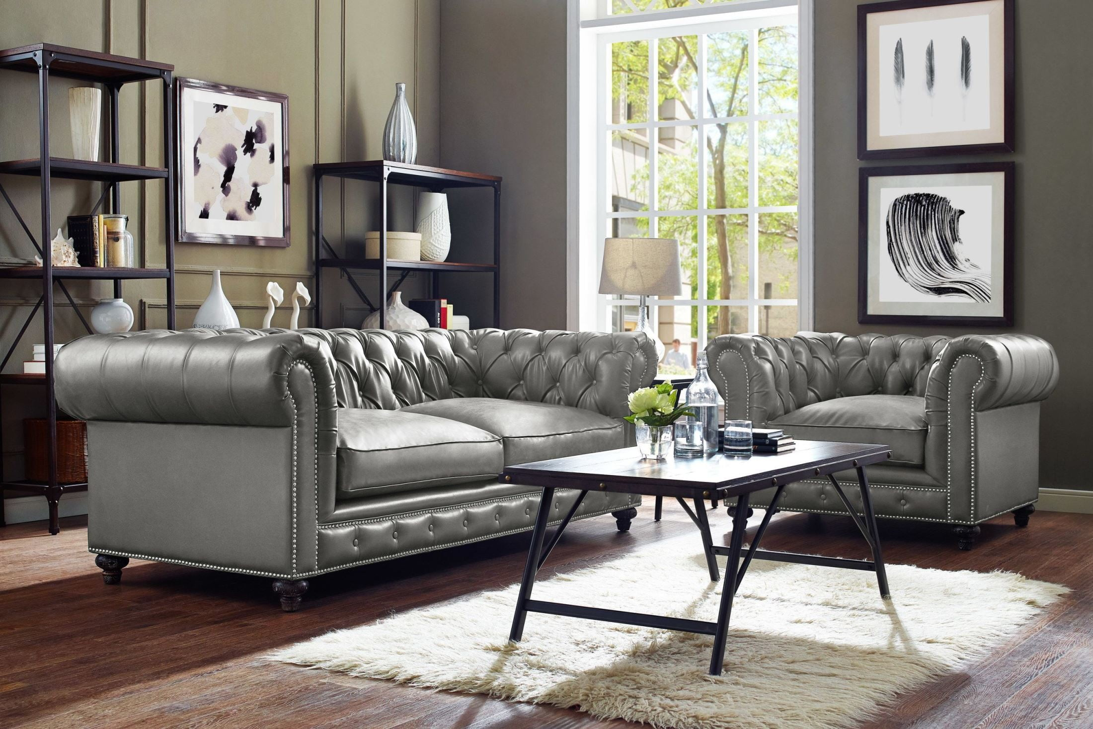 durango rustic grey living room set from tov coleman furniture. Black Bedroom Furniture Sets. Home Design Ideas