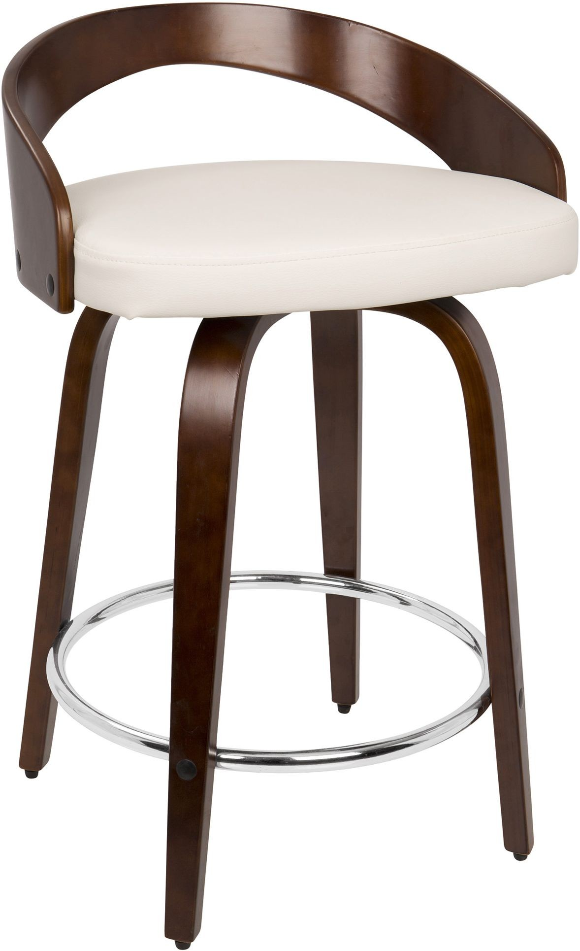 Grotto Brown And White Counter Stool Set Of 2 From