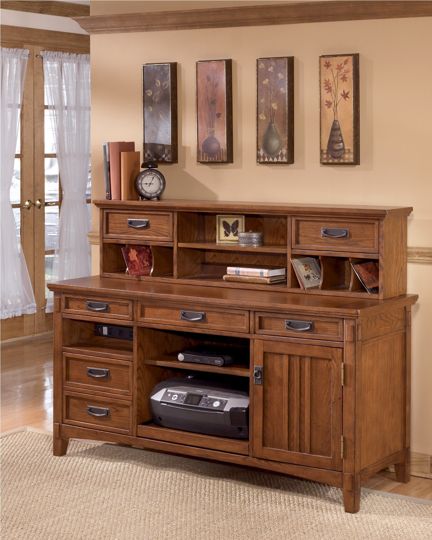 Cross Island Large Credenza W Low Hutch From Ashley H319