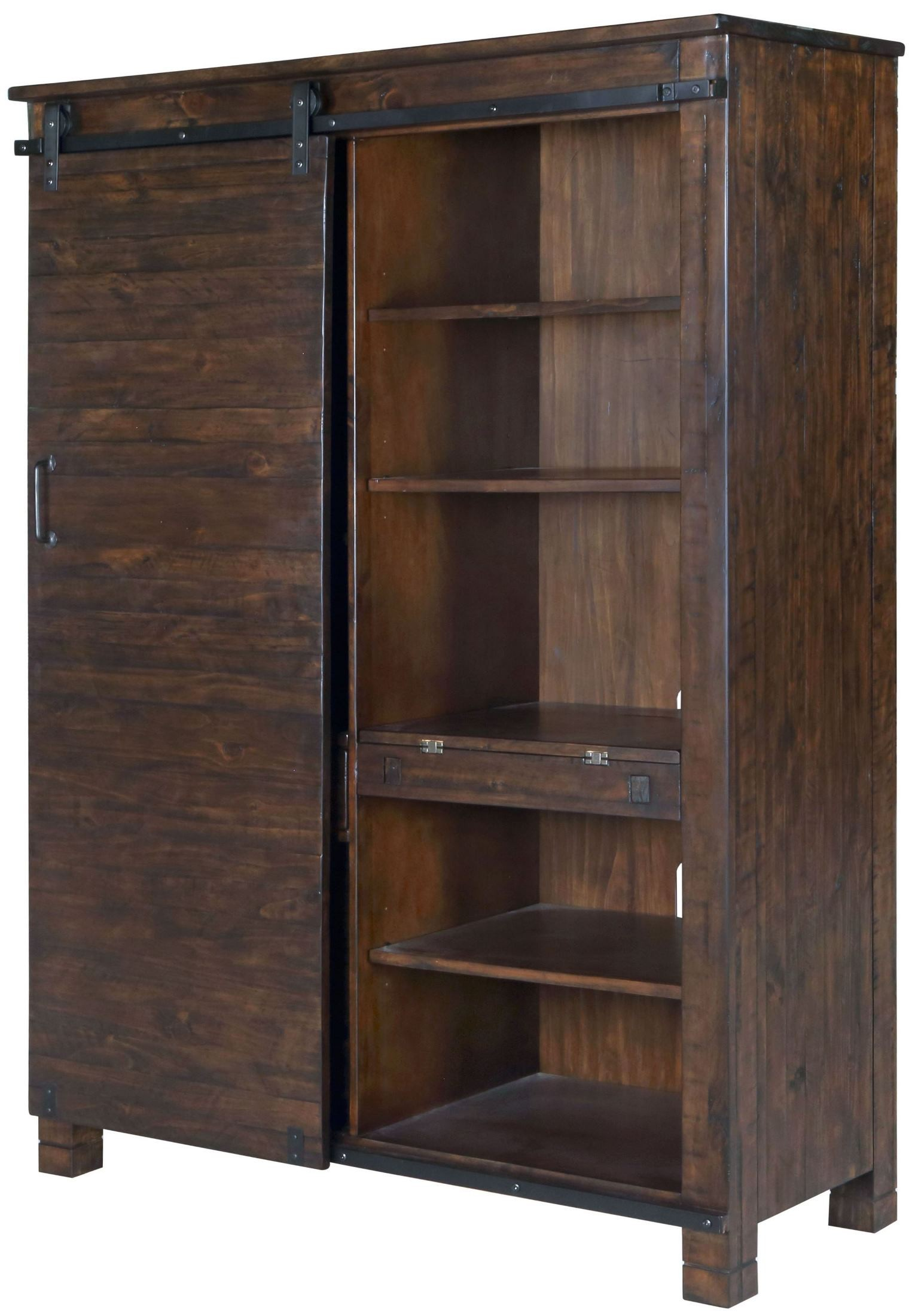 Pine Hill Rustic Door Bookcase From Magnussen Home