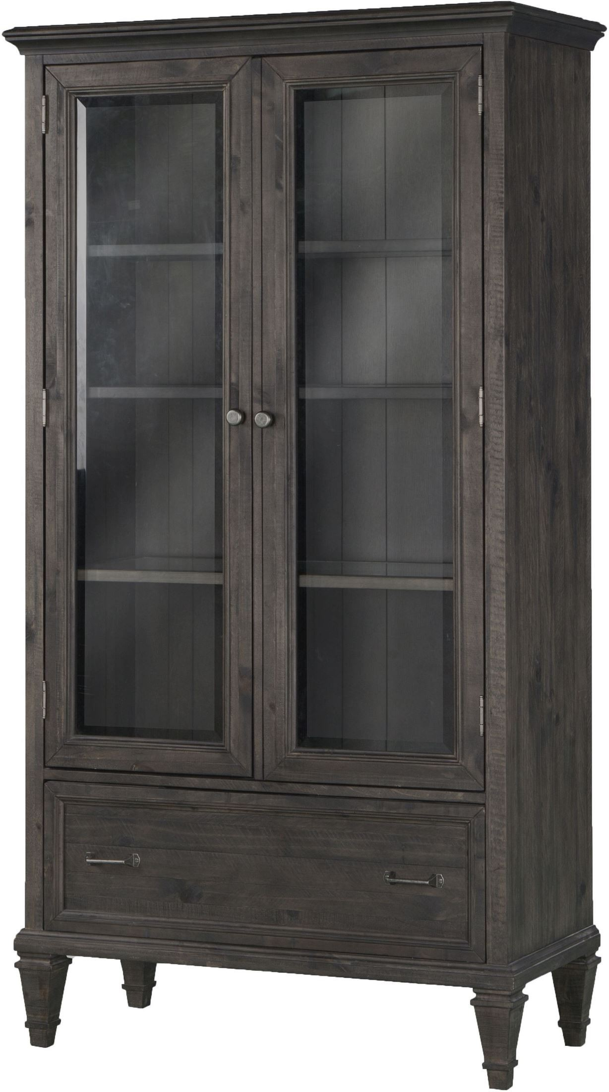 Sutton Place Weathered Charcoal Door Bookcase From
