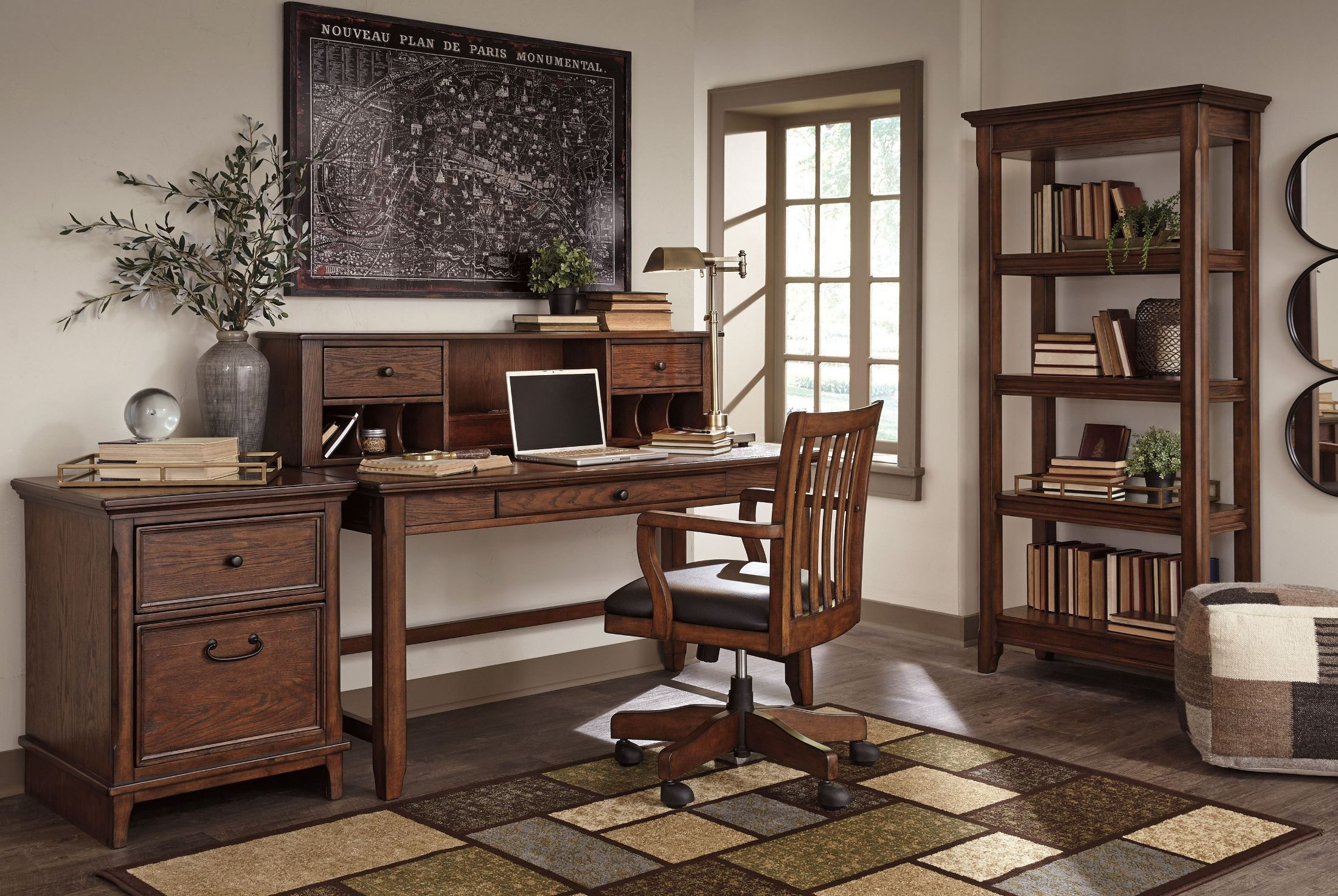 Woodboro Brown Desk With Hutch From Ashley Coleman Furniture