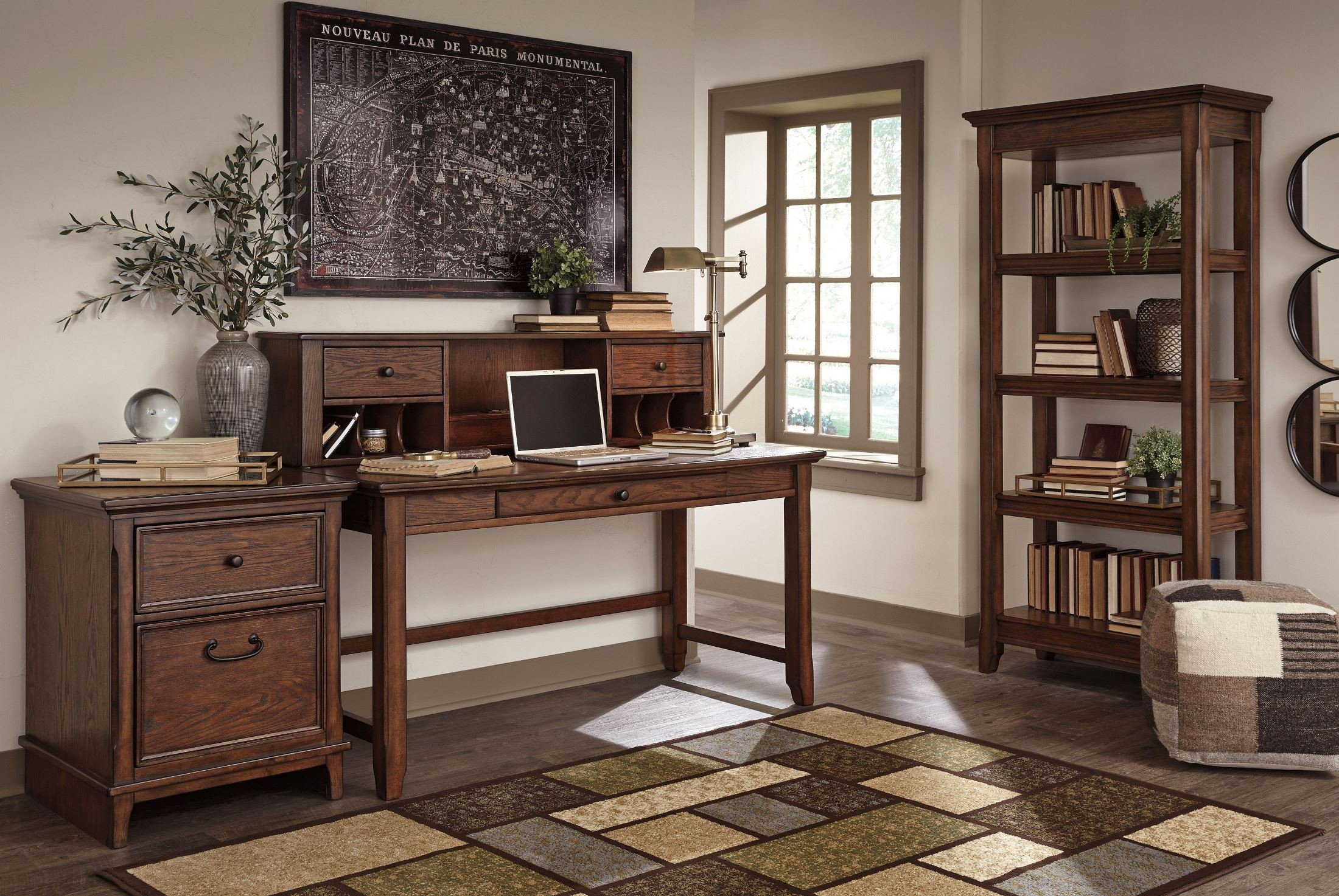 Woodboro Brown Desk With Hutch From Ashley