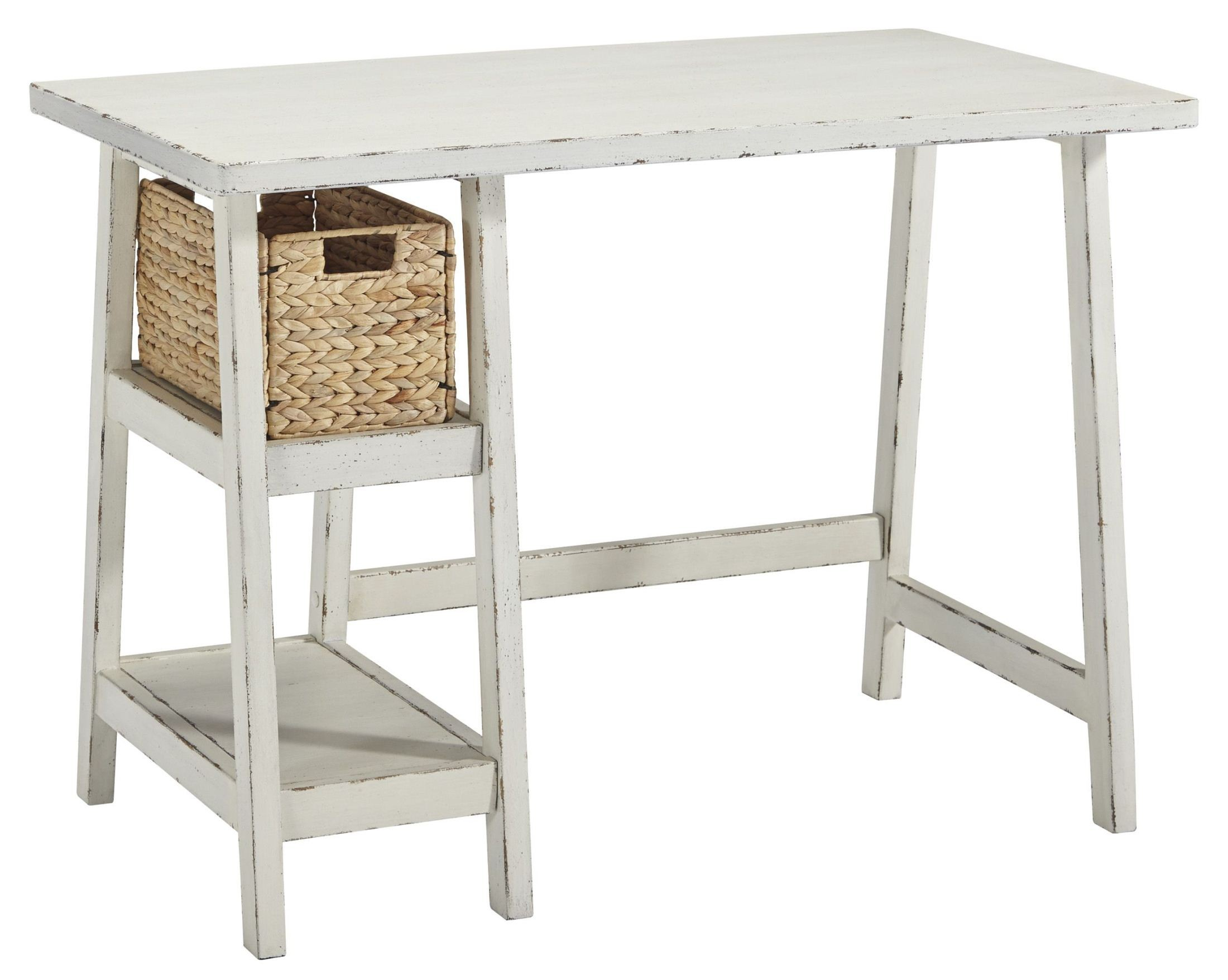 Mirimyn Antique White Home Office Small Desk from Ashley | Coleman ...