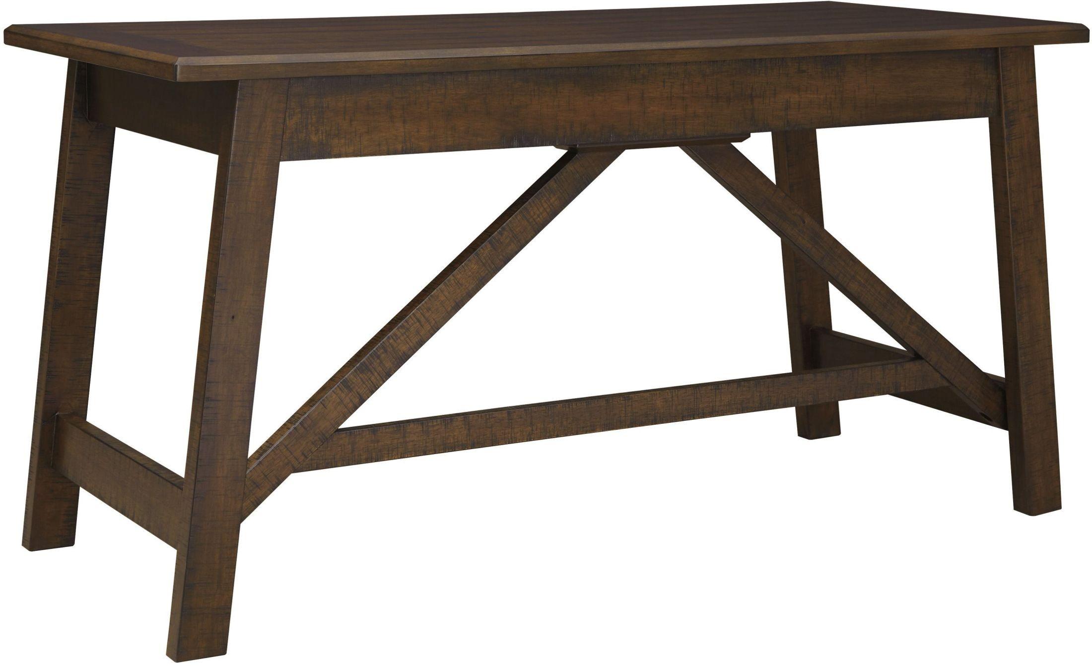 Baldridge Rustic Brown Home Office Large Leg Desk from Ashley ...