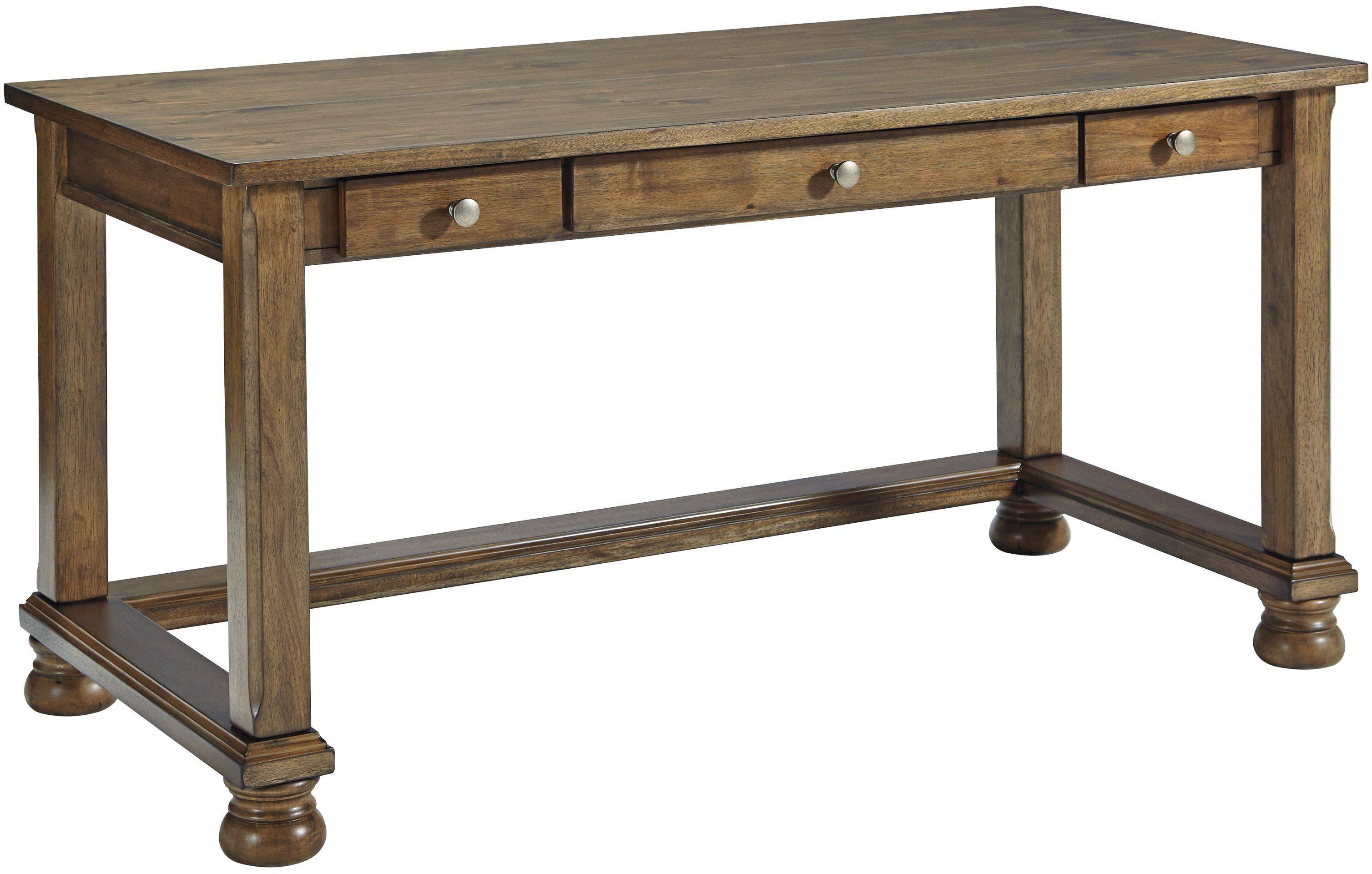 Flynnter Medium Brown Home Office Desk from Ashley | Coleman Furniture