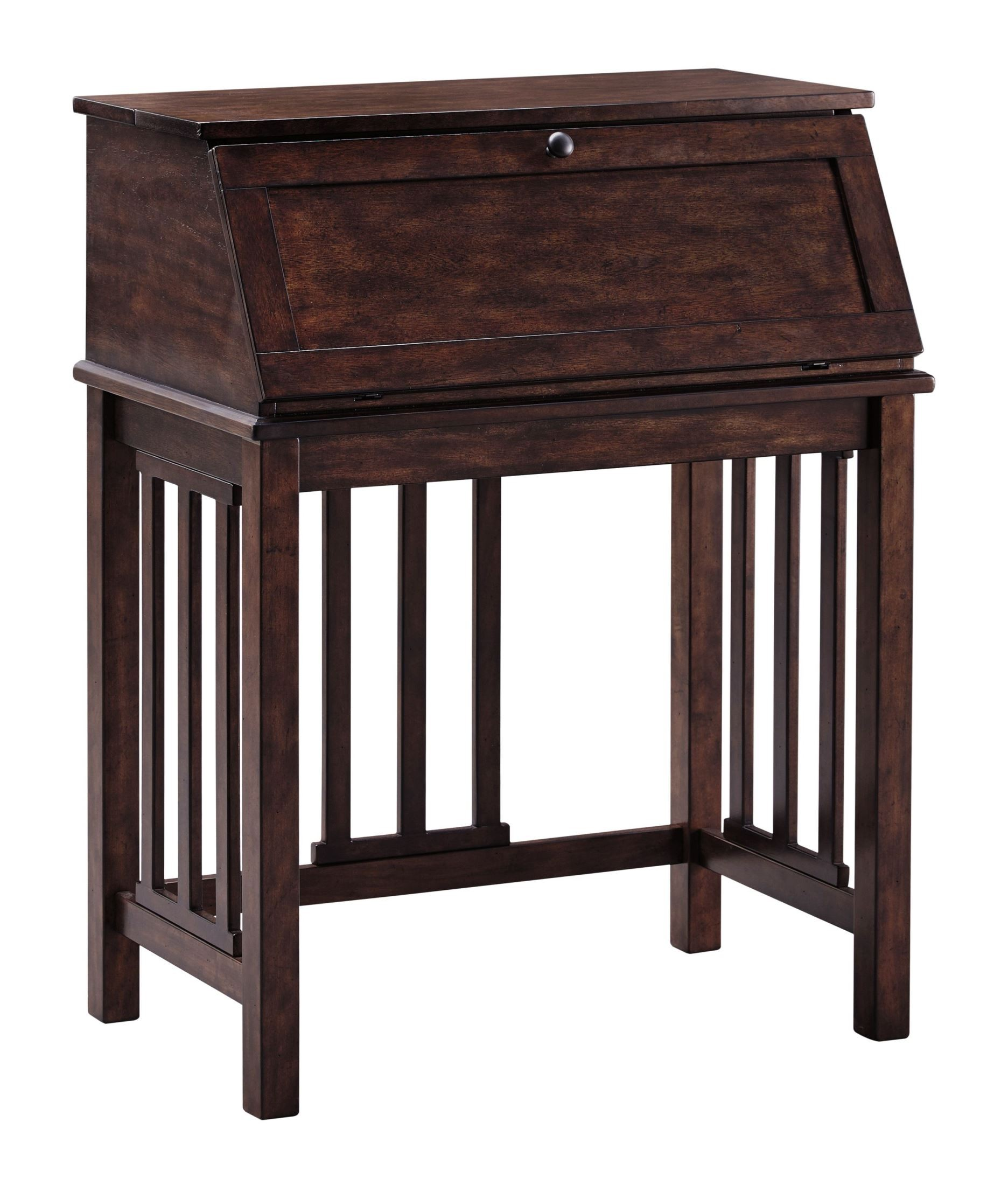 Harpan reddish brown home office drop front desk from