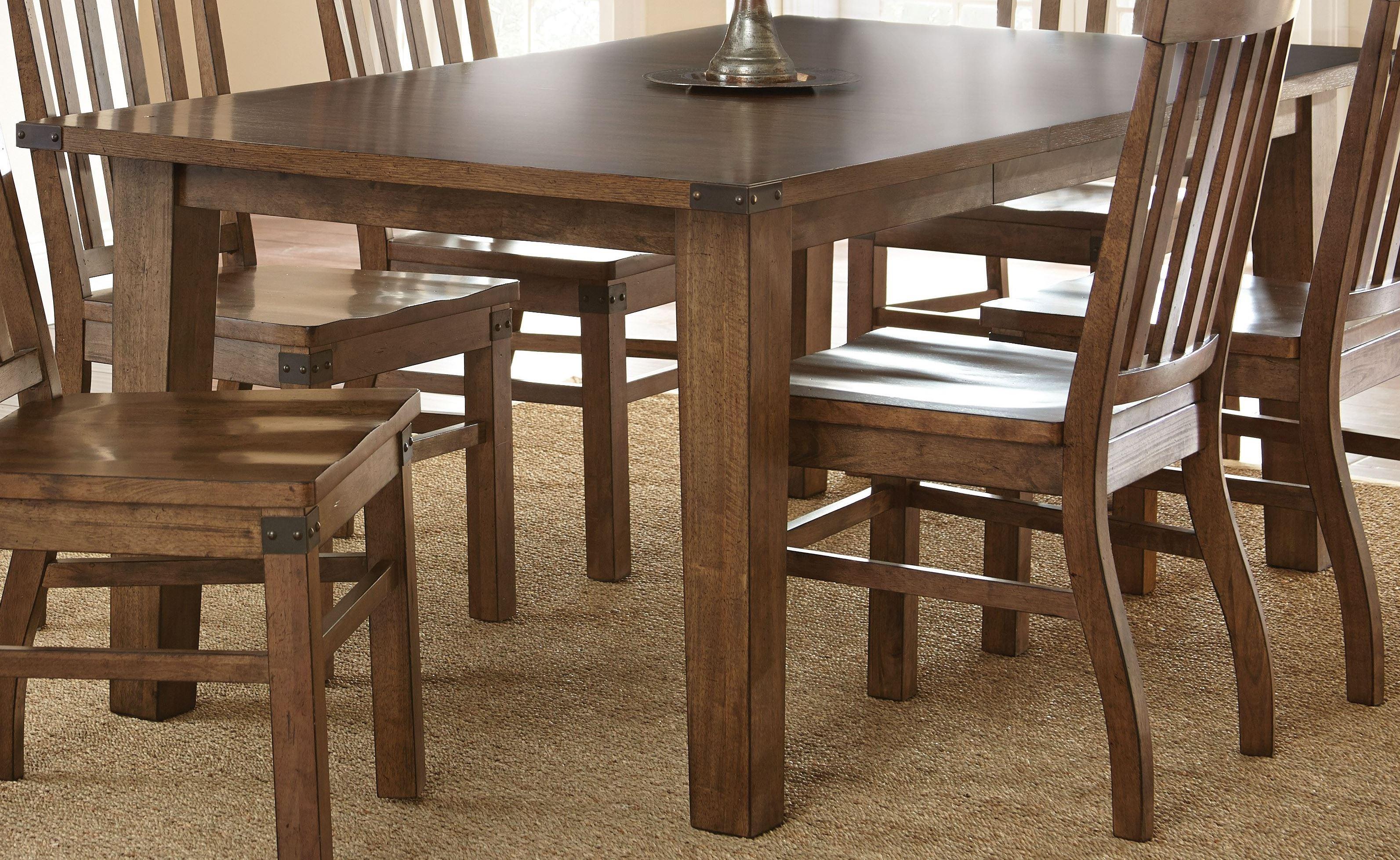 hailee antique oak extendable rectangular dining table from steve silver ha500t coleman. Black Bedroom Furniture Sets. Home Design Ideas