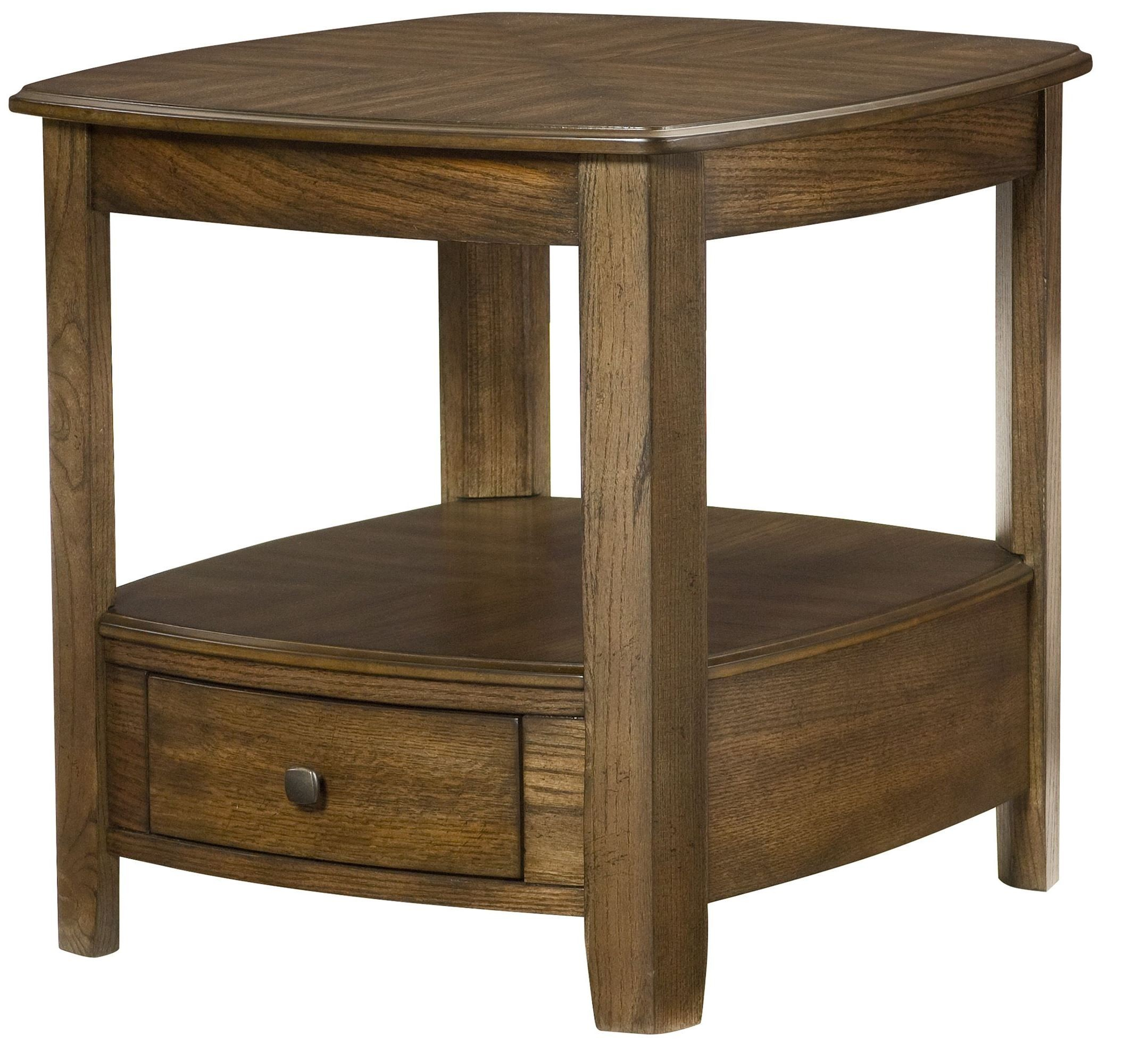 Primo Warm Medium Brown Rectangular Drawer End Table From